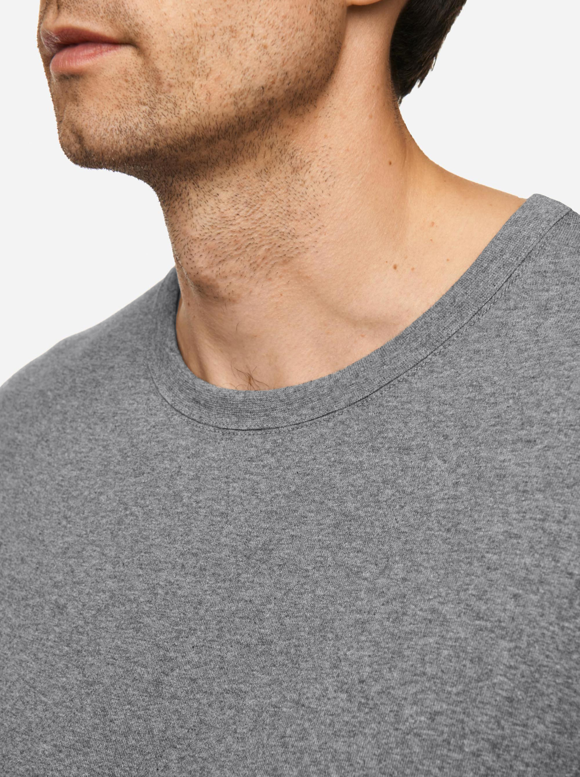 Teym - The-T-Shirt - Longsleeve - Men - Melange Grey - 1B