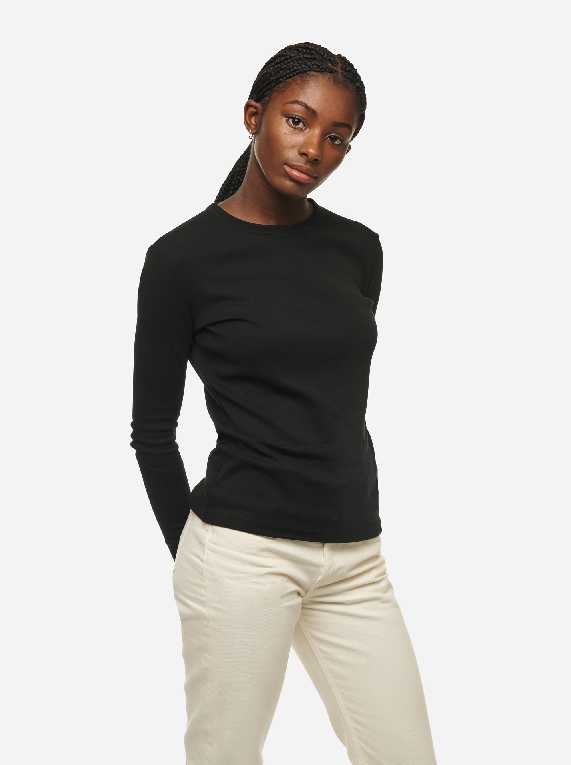 Teym - The-T-Shirt - Longsleeve - Women - Black - 4