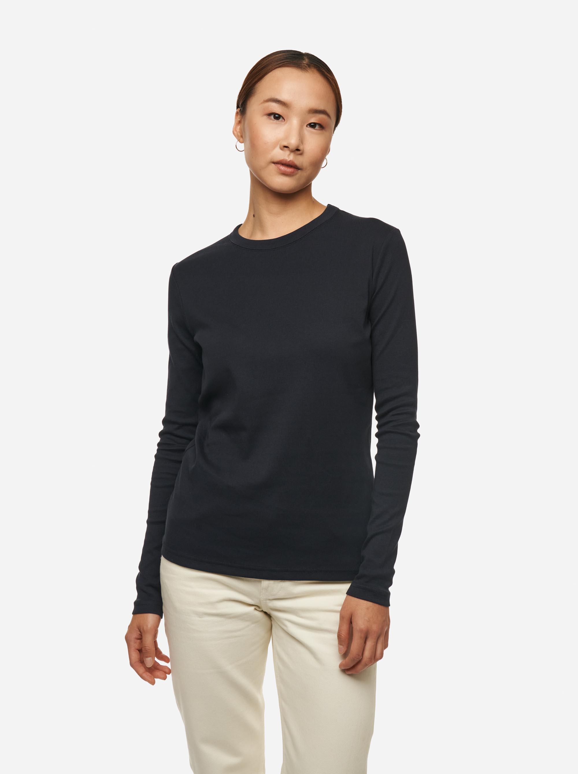 Teym - The-T-Shirt - Longsleeve - Women - Blue - 2
