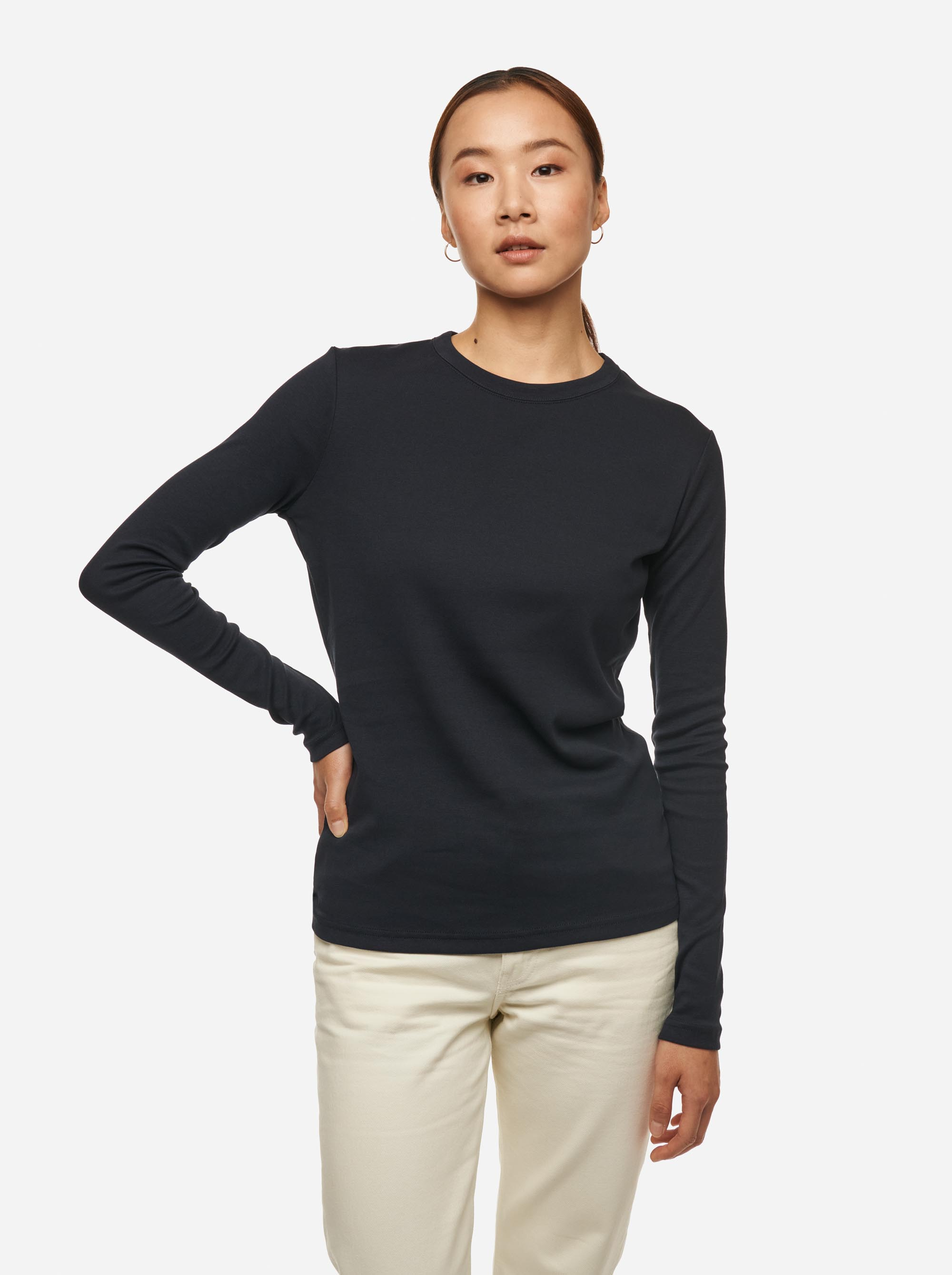 Teym - The-T-Shirt - Longsleeve - Women - Blue - 3