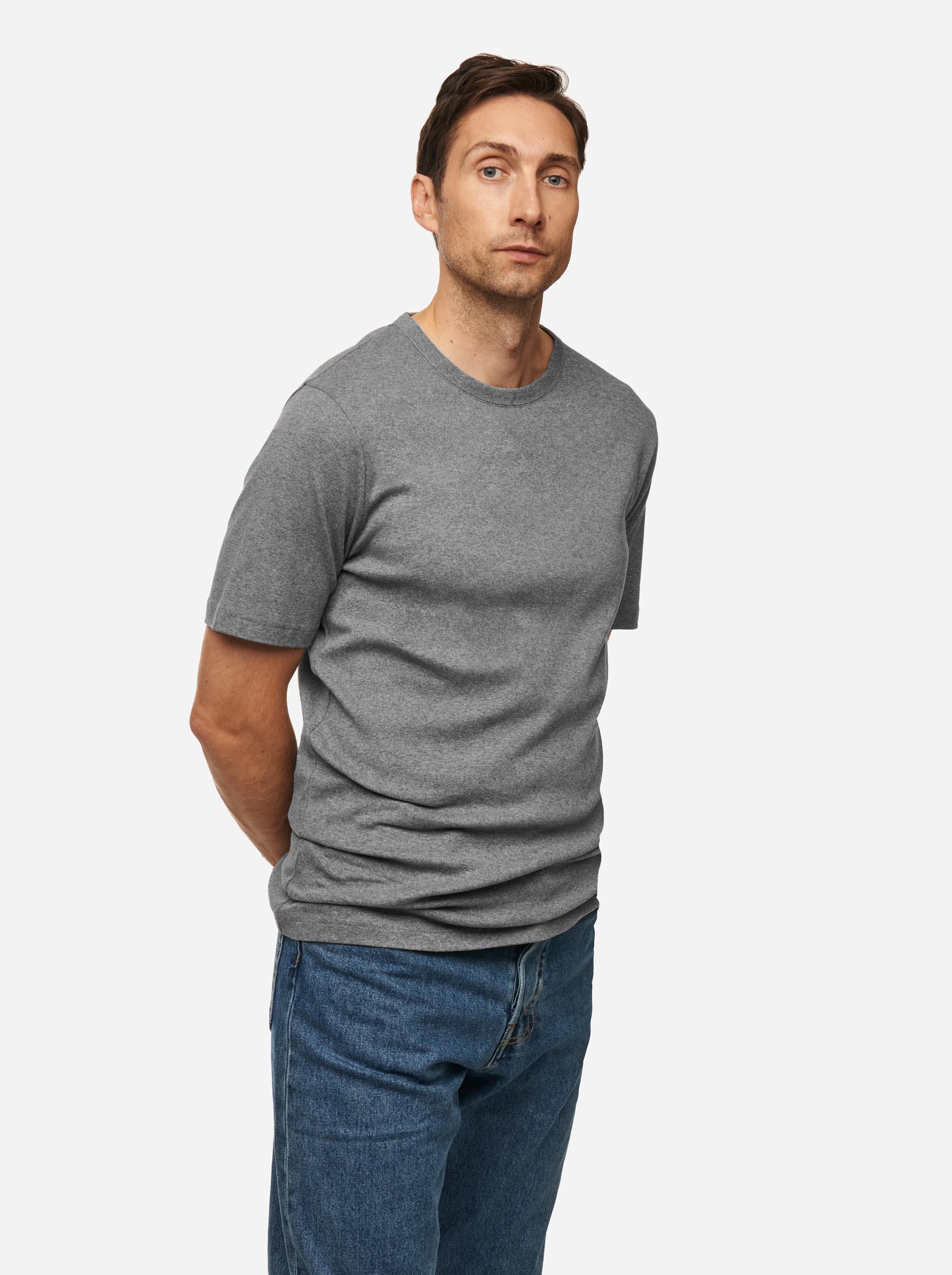 Teym - The T-Shirt - Men - Melange grey - 2B