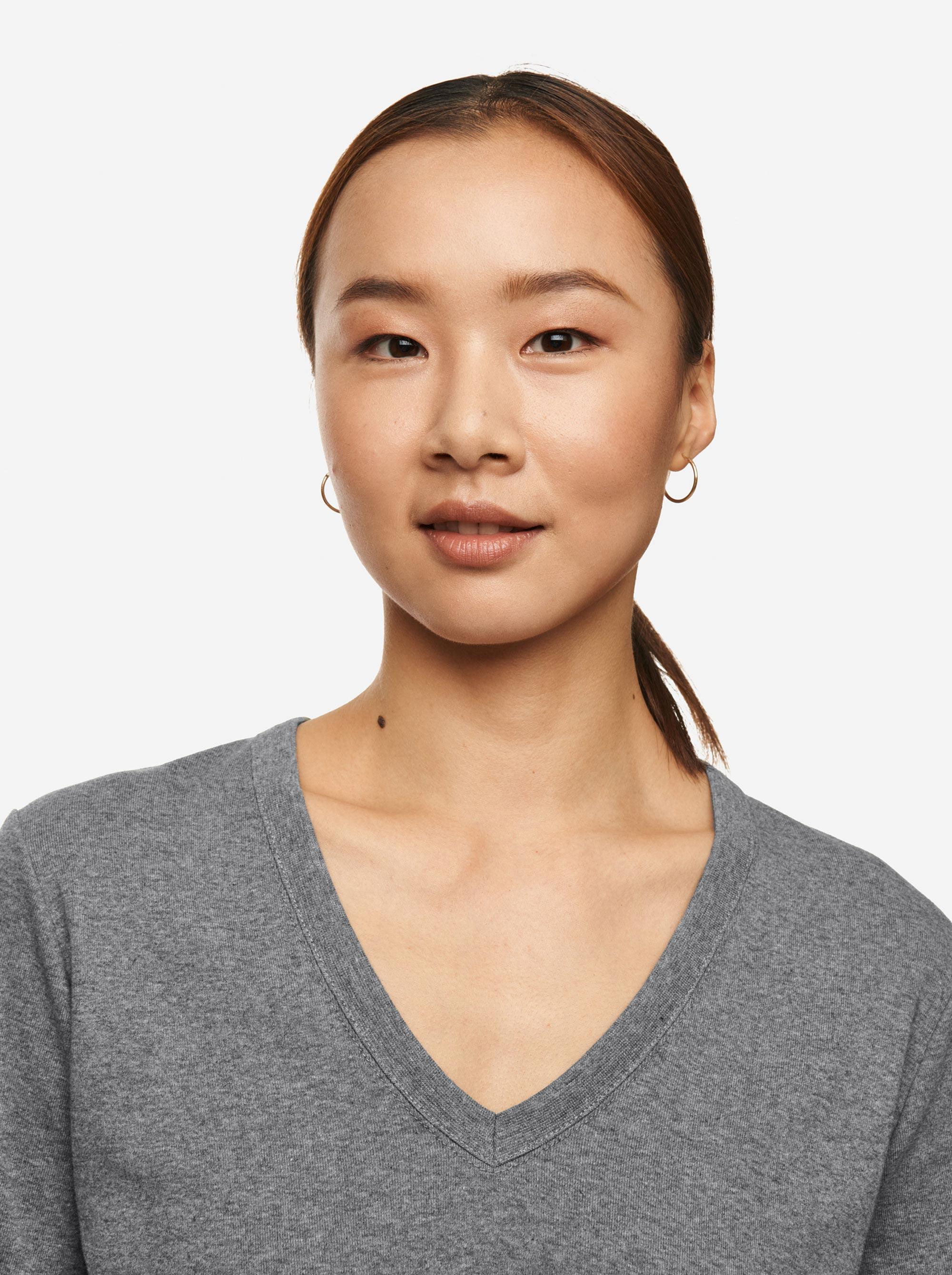 Teym - The T-Shirt - V-Neck - Women - Melange grey - 3B