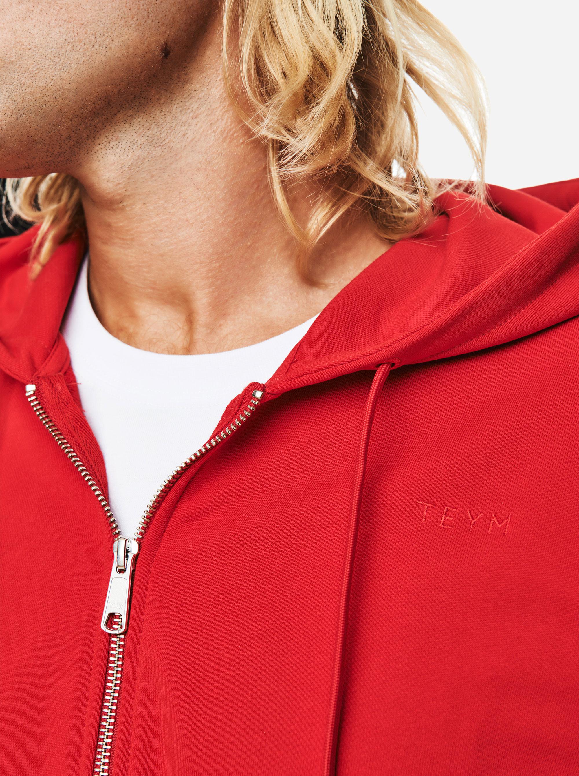 Teym - The Zip Hoodie - Men - Red - 3