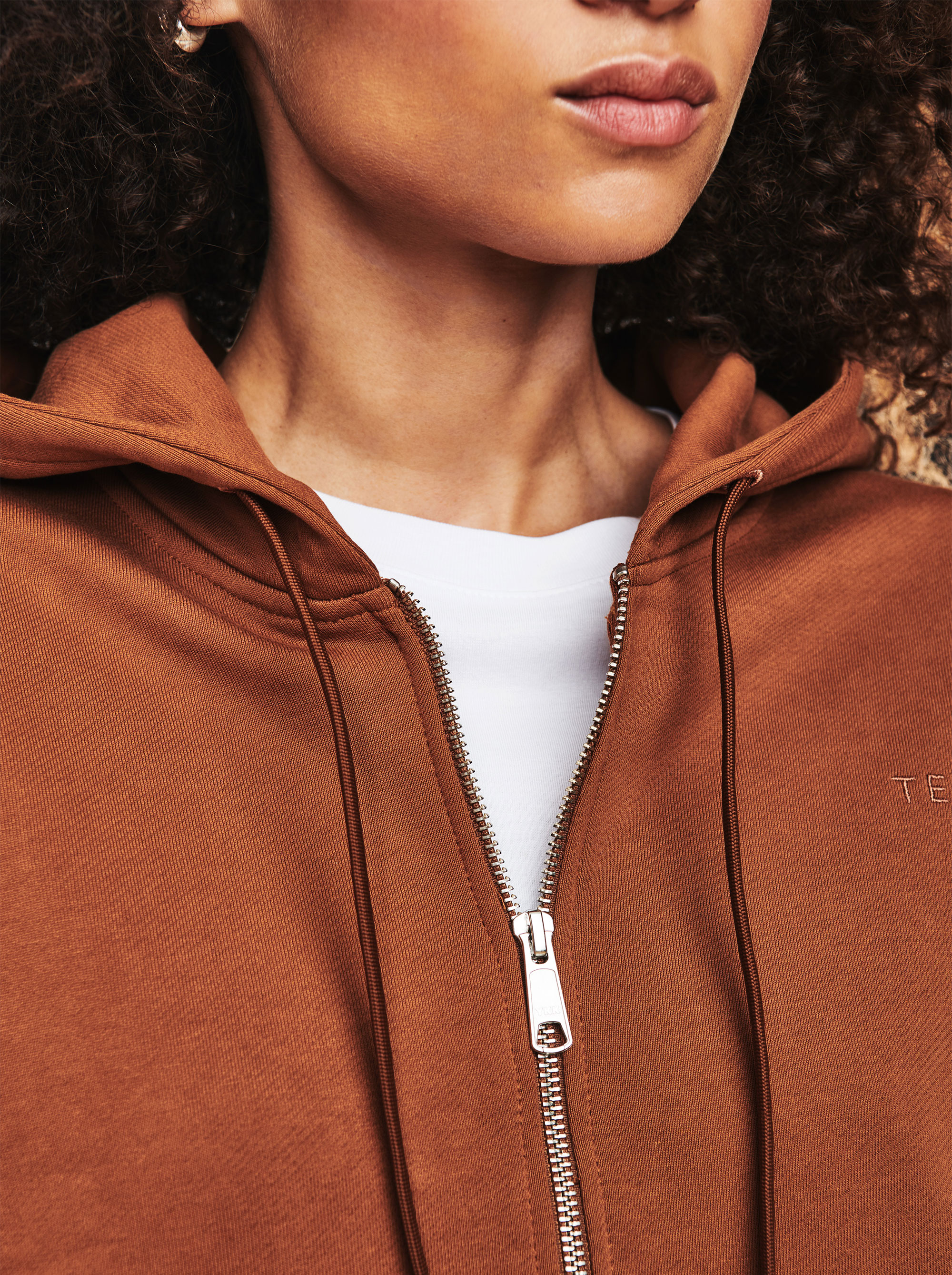 Teym - The Zip Hoodie - Women - Camel - 3