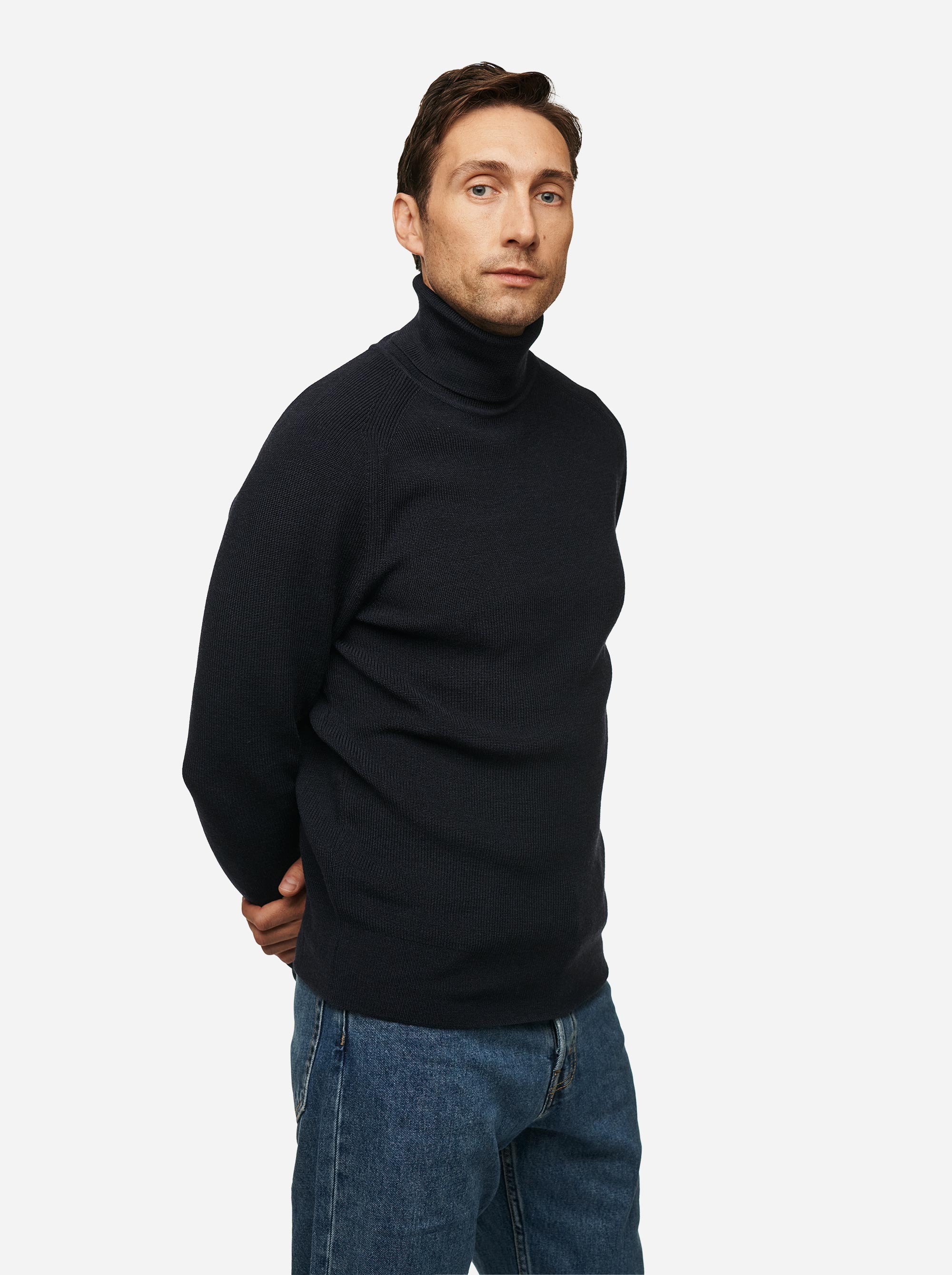 Teym - Turtleneck - The Merino Sweater - Men - Blue - 2
