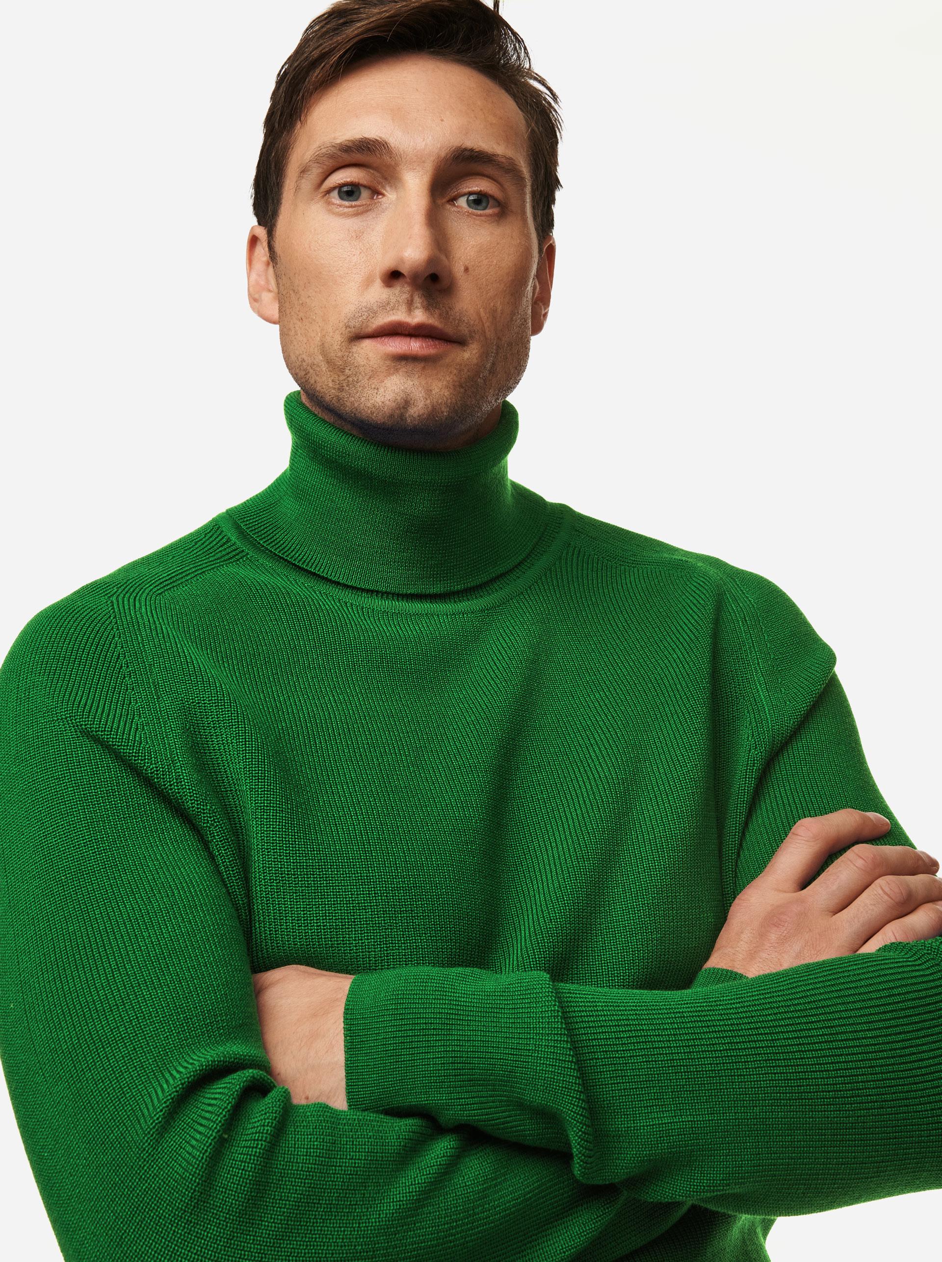 Teym - Turtleneck - The Merino Sweater - Men - Bright Green - 3