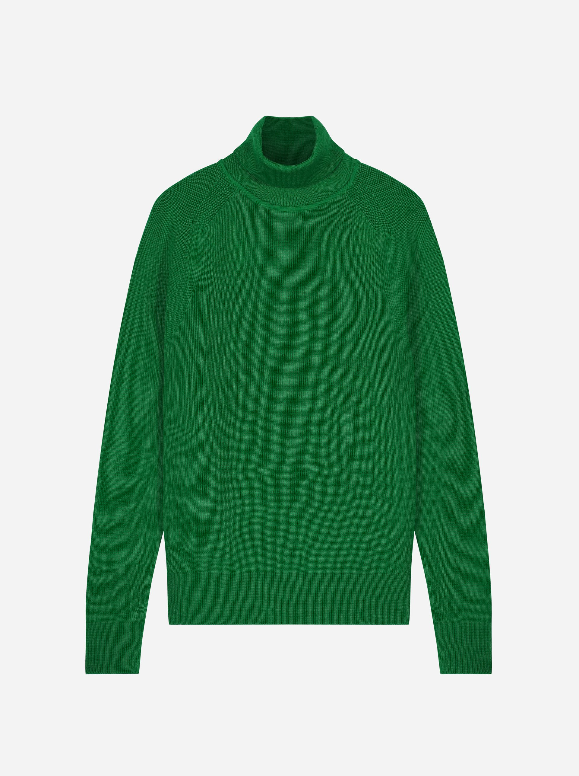 Teym - Turtleneck - The Merino Sweater - Men - Bright Green - 4
