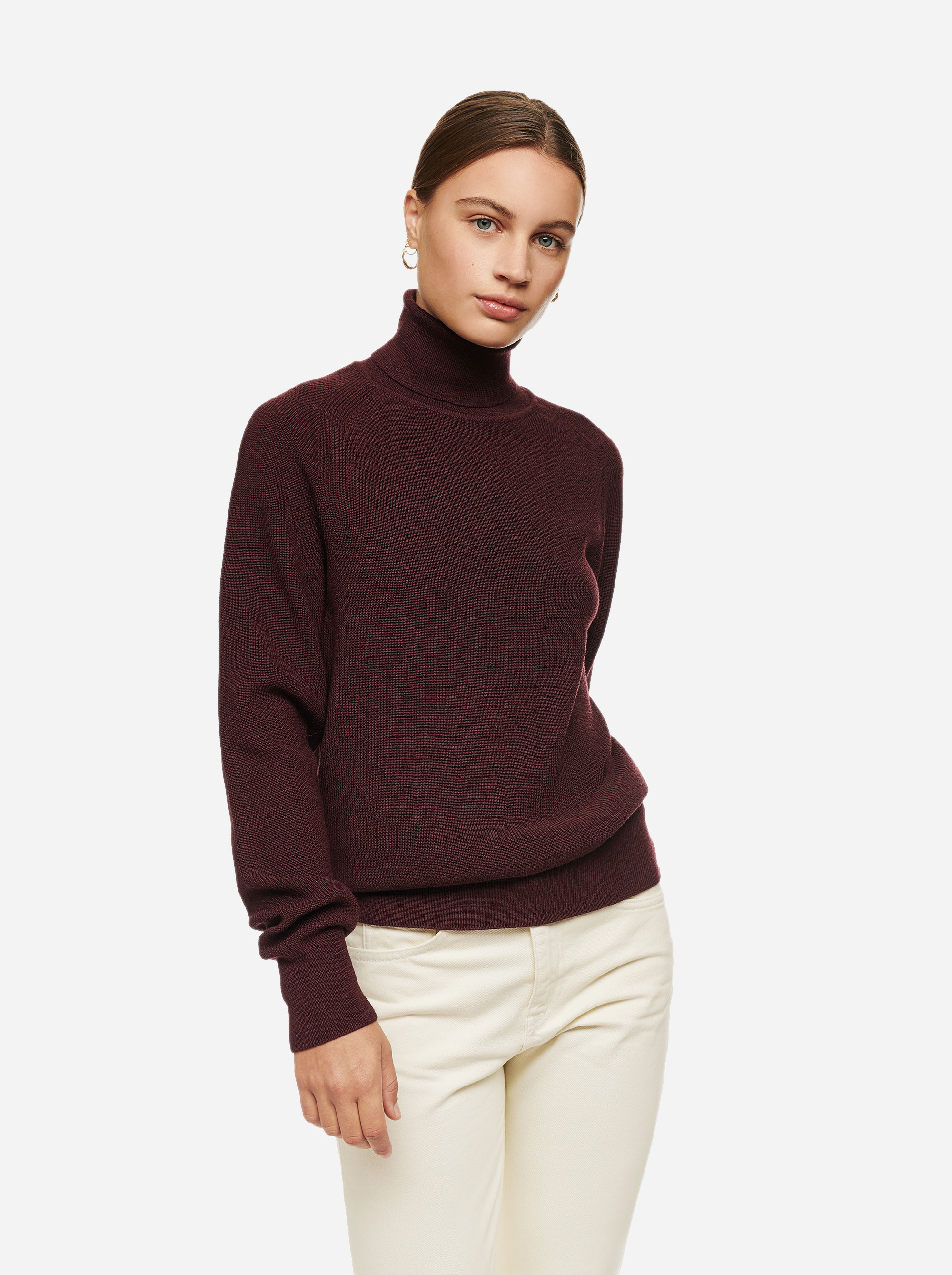 Teym - Turtleneck - The Merino Sweater - Men - Burgundy - 1