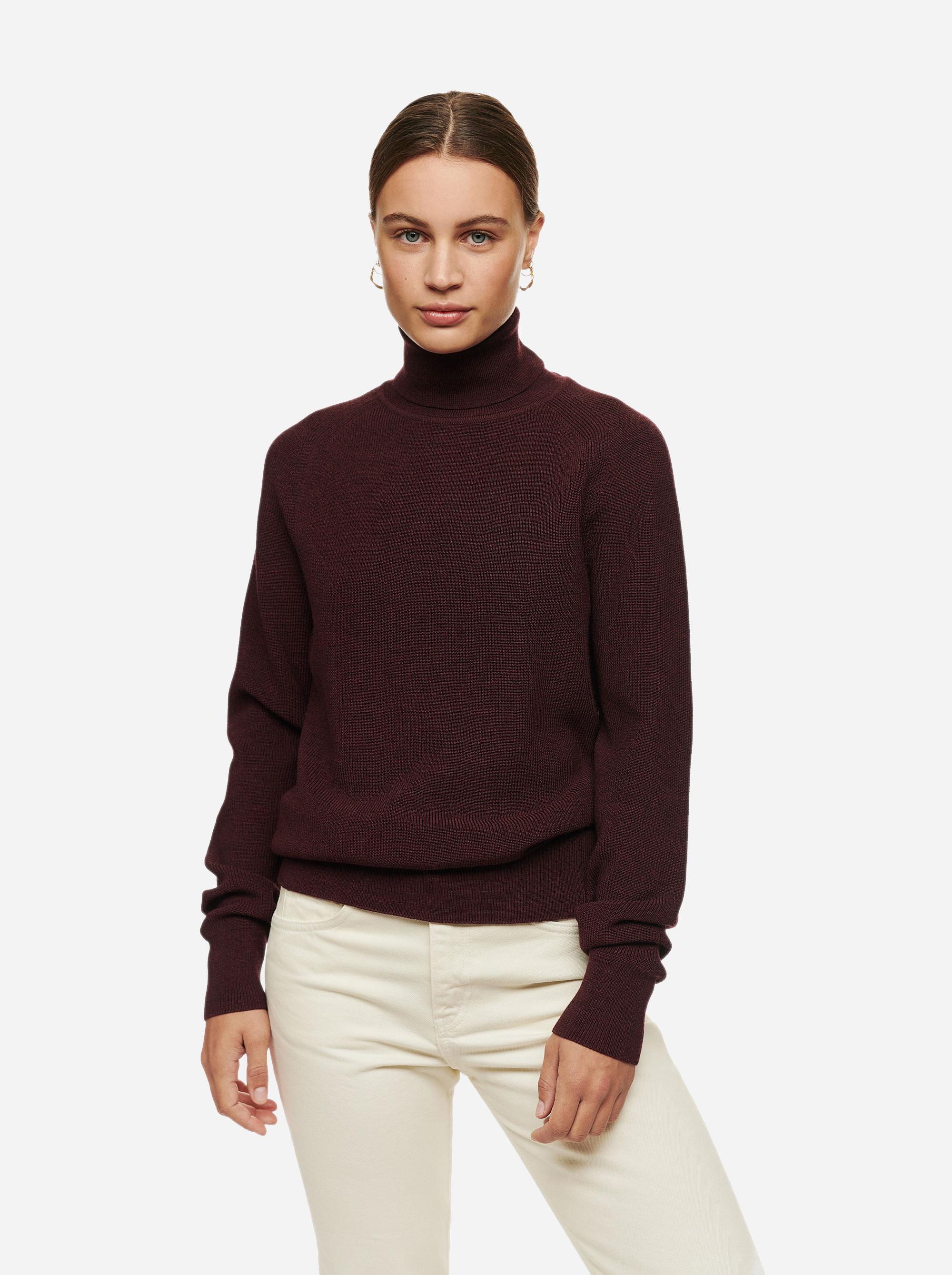 Teym - Turtleneck - The Merino Sweater - Men - Burgundy - 3