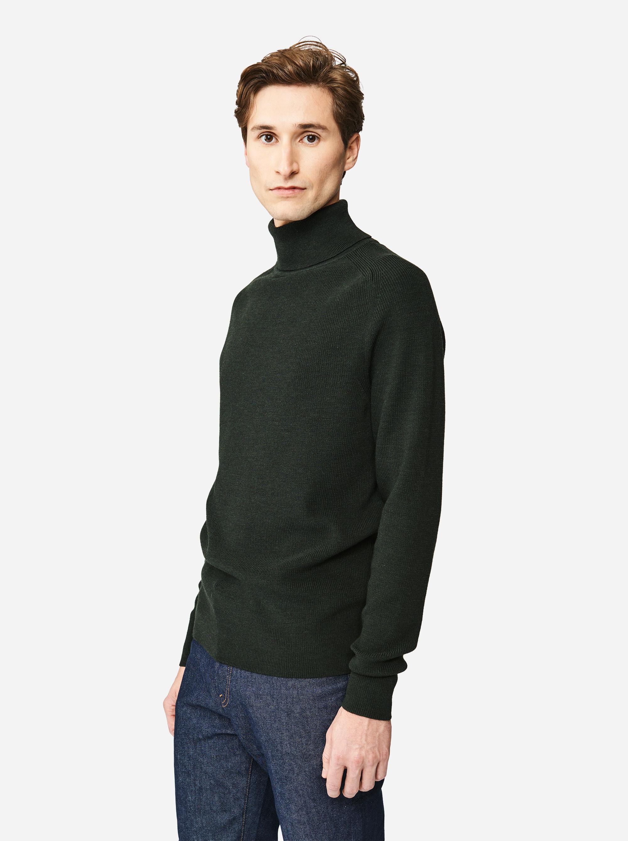 Teym - Turtleneck - The Merino Sweater - Men - Green - 2