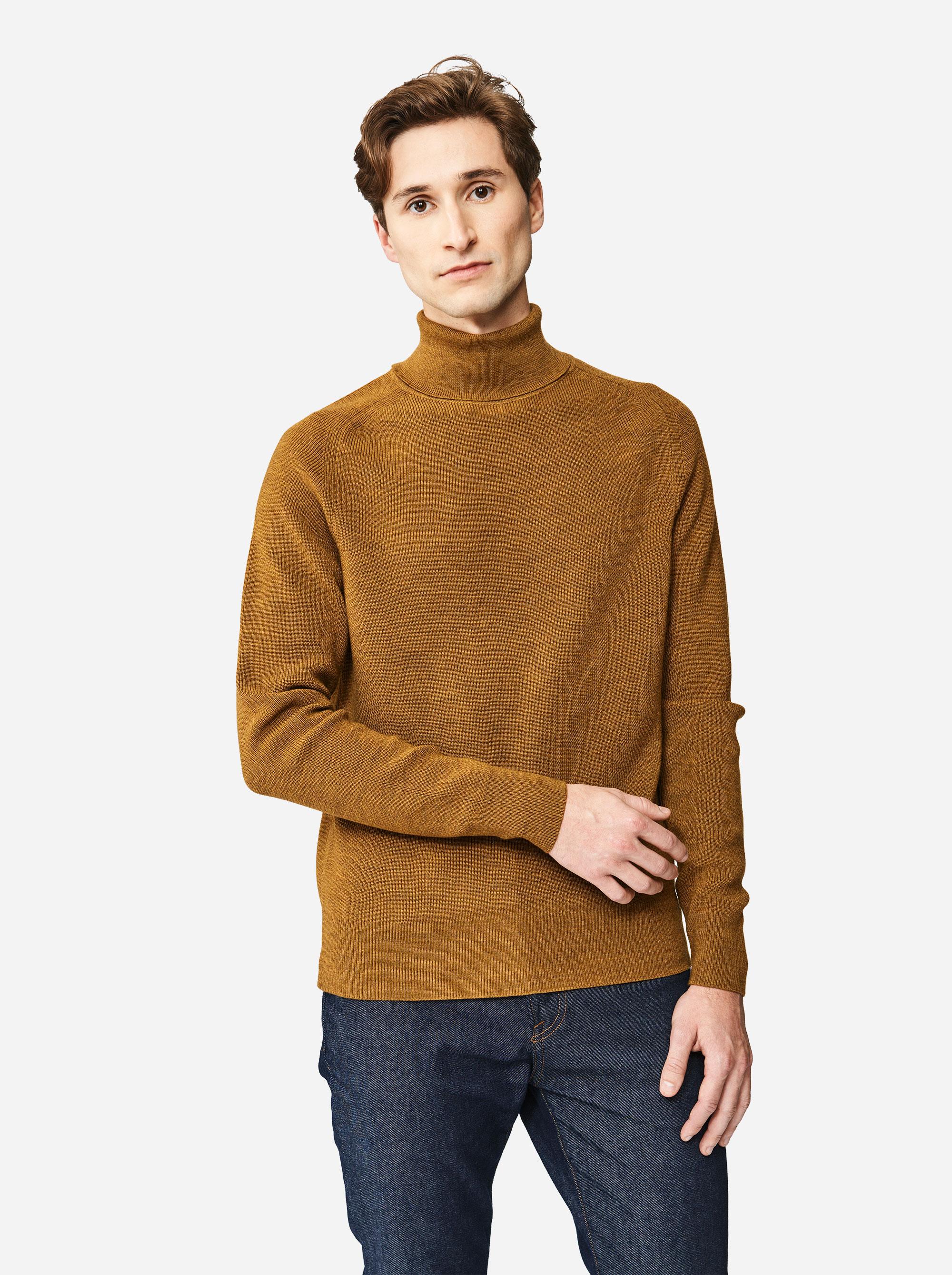 Teym - Turtleneck - The Merino Sweater - Men - Mustard - 1