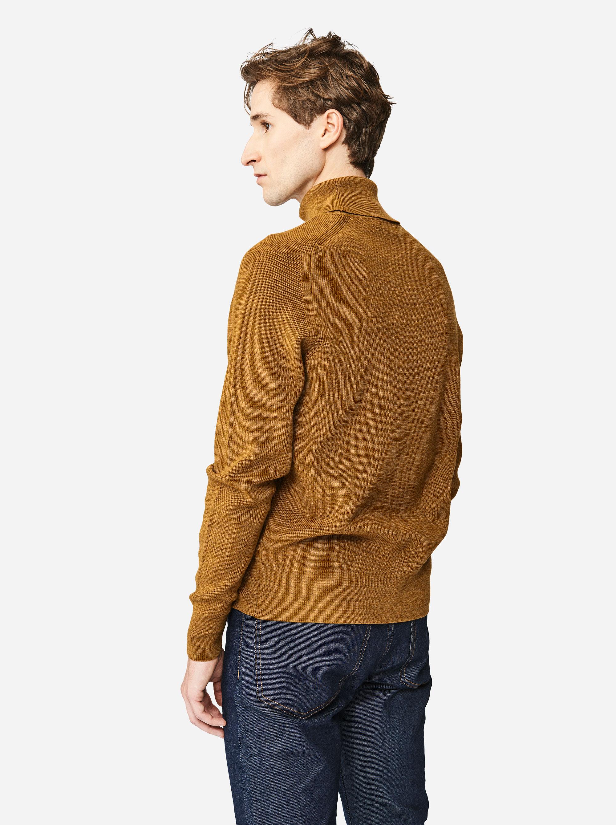 Teym - Turtleneck - The Merino Sweater - Men - Mustard - 2