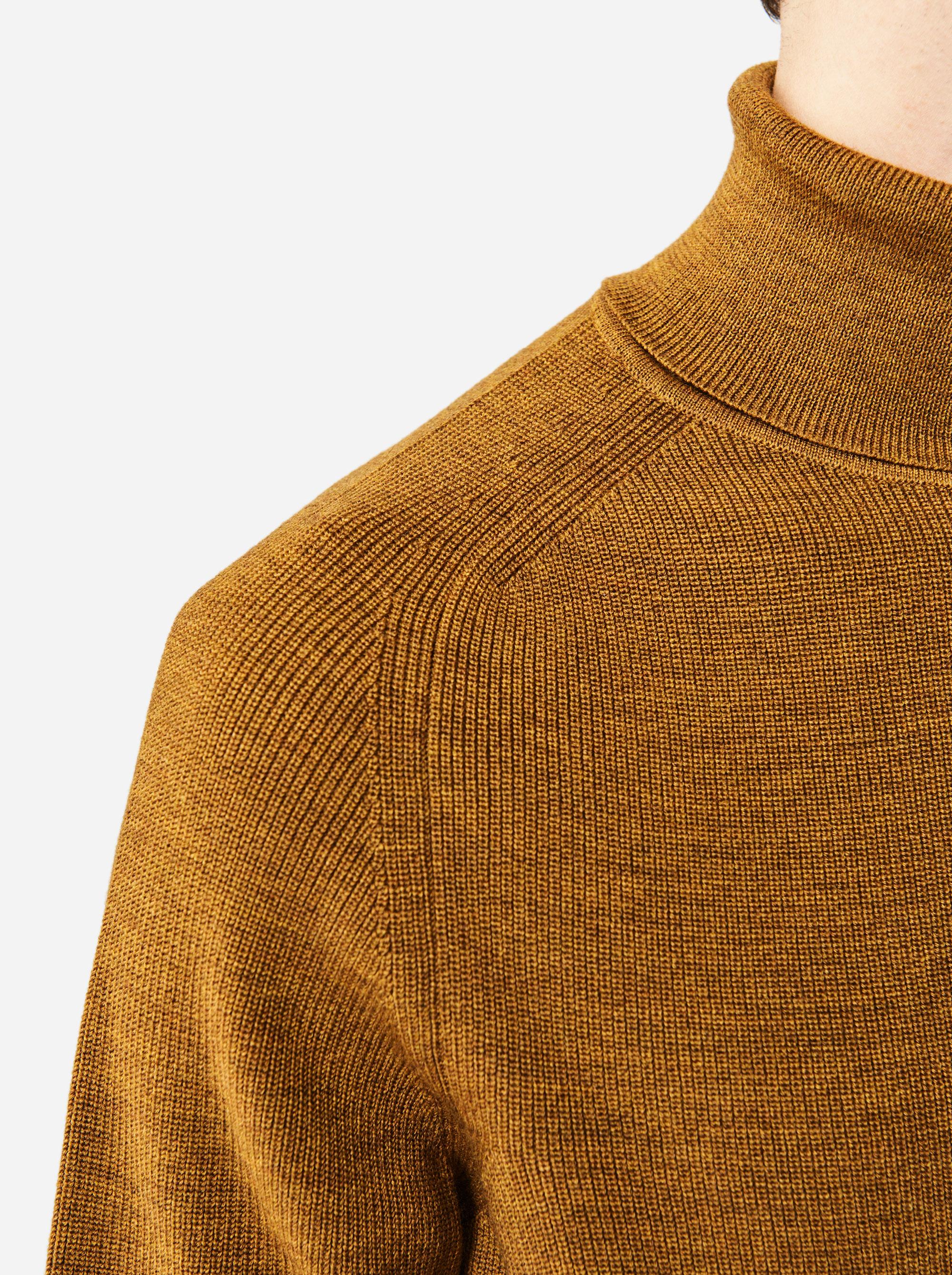 Teym - Turtleneck - The Merino Sweater - Men - Mustard - 3
