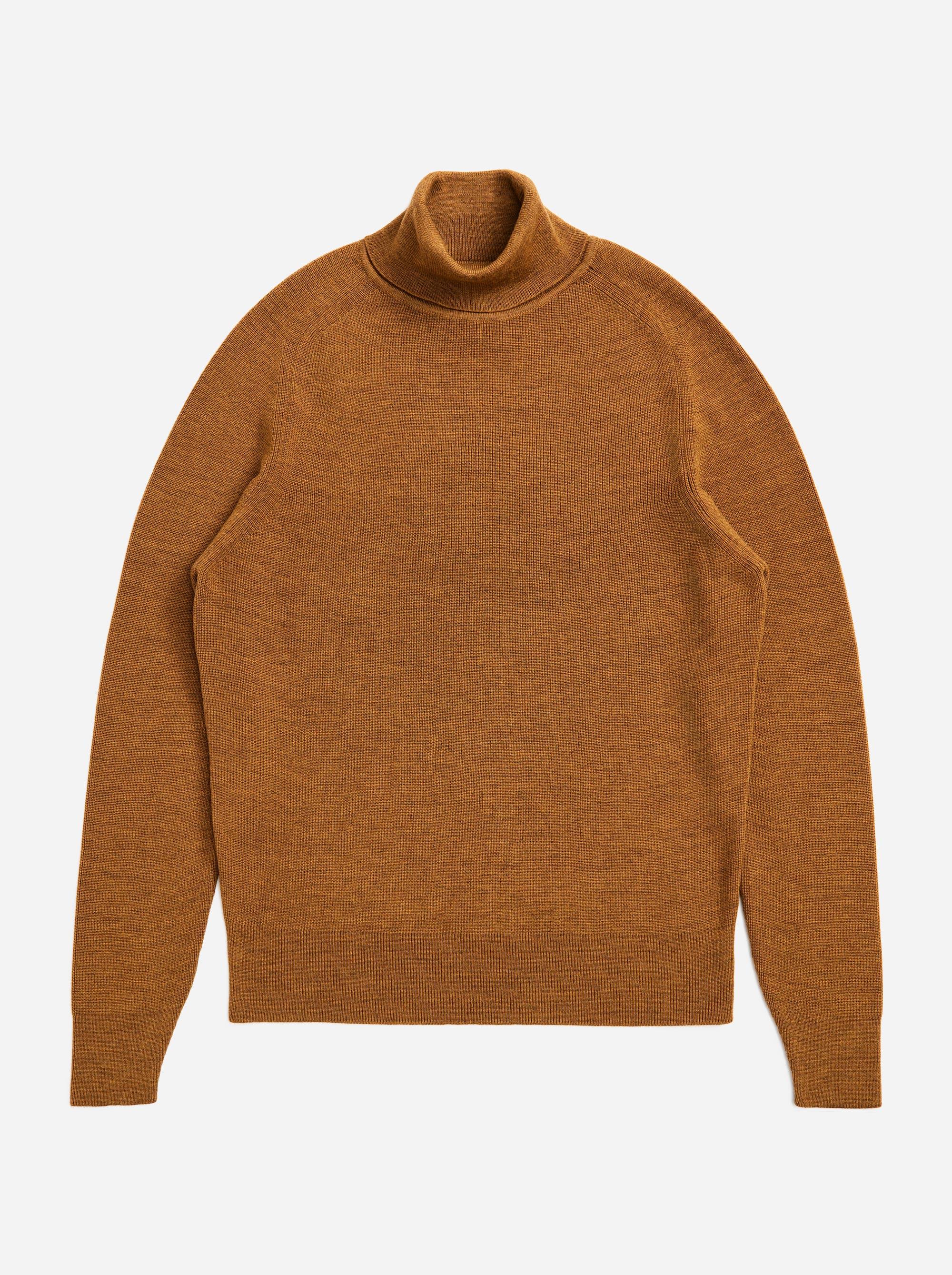Teym - Turtleneck - The Merino Sweater - Men - Mustard - 5