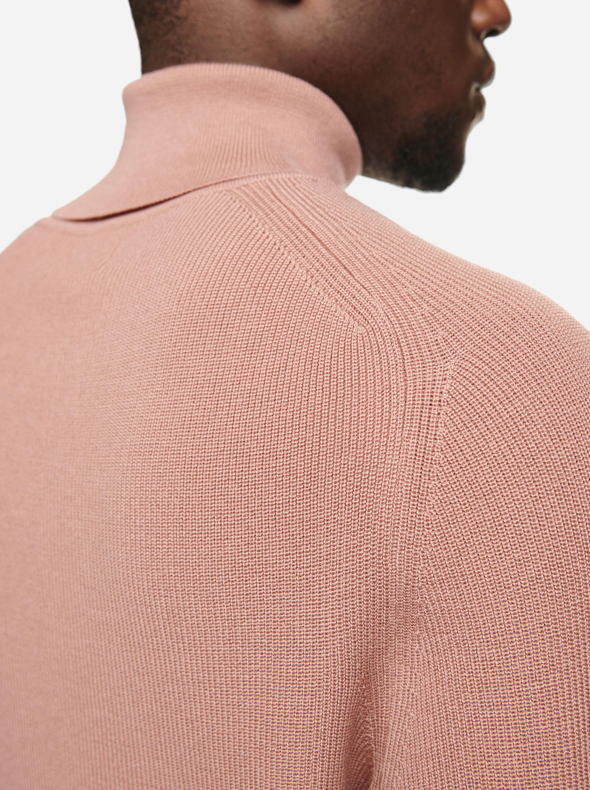Teym - Turtleneck - The Merino Sweater - Men - Pink - 3