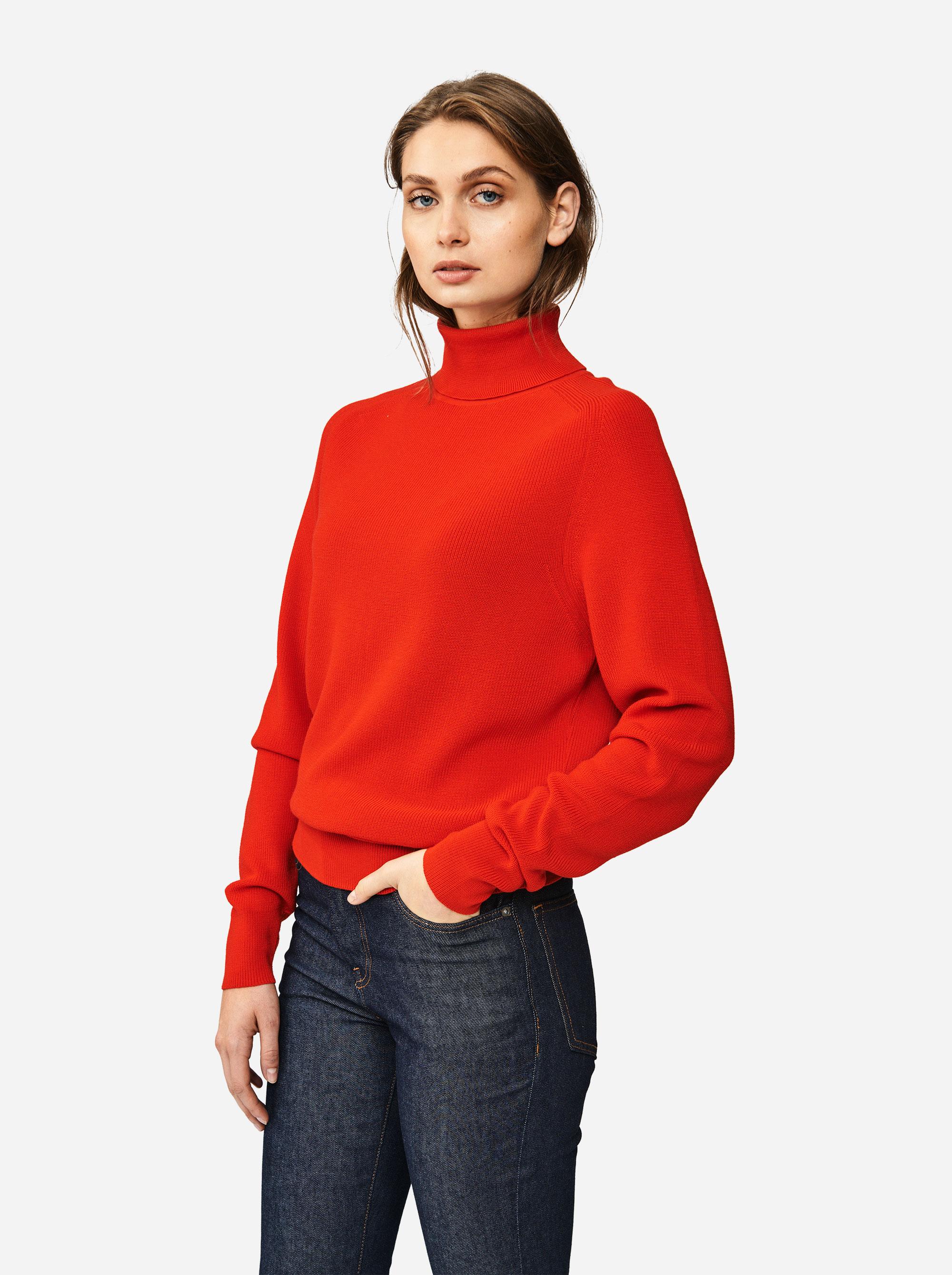 Teym - Turtleneck - The Merino Sweater - Men - Red - 1