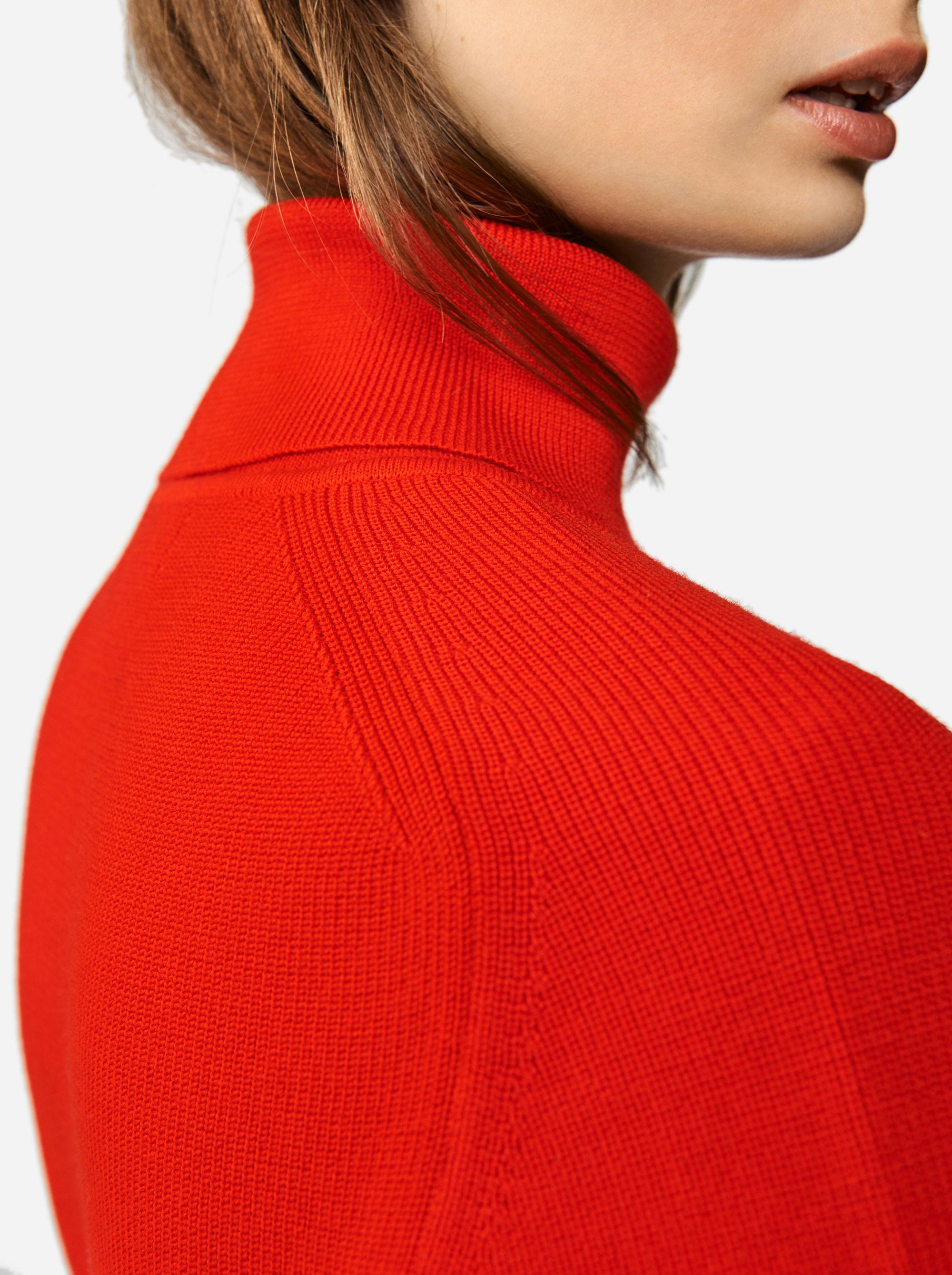 Teym - Turtleneck - The Merino Sweater - Men - Red - 2