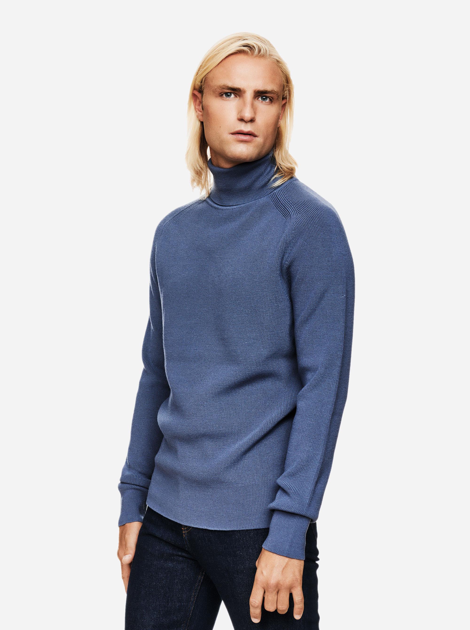Teym - Turtleneck - The Merino Sweater - Men - Sky Blue - 2