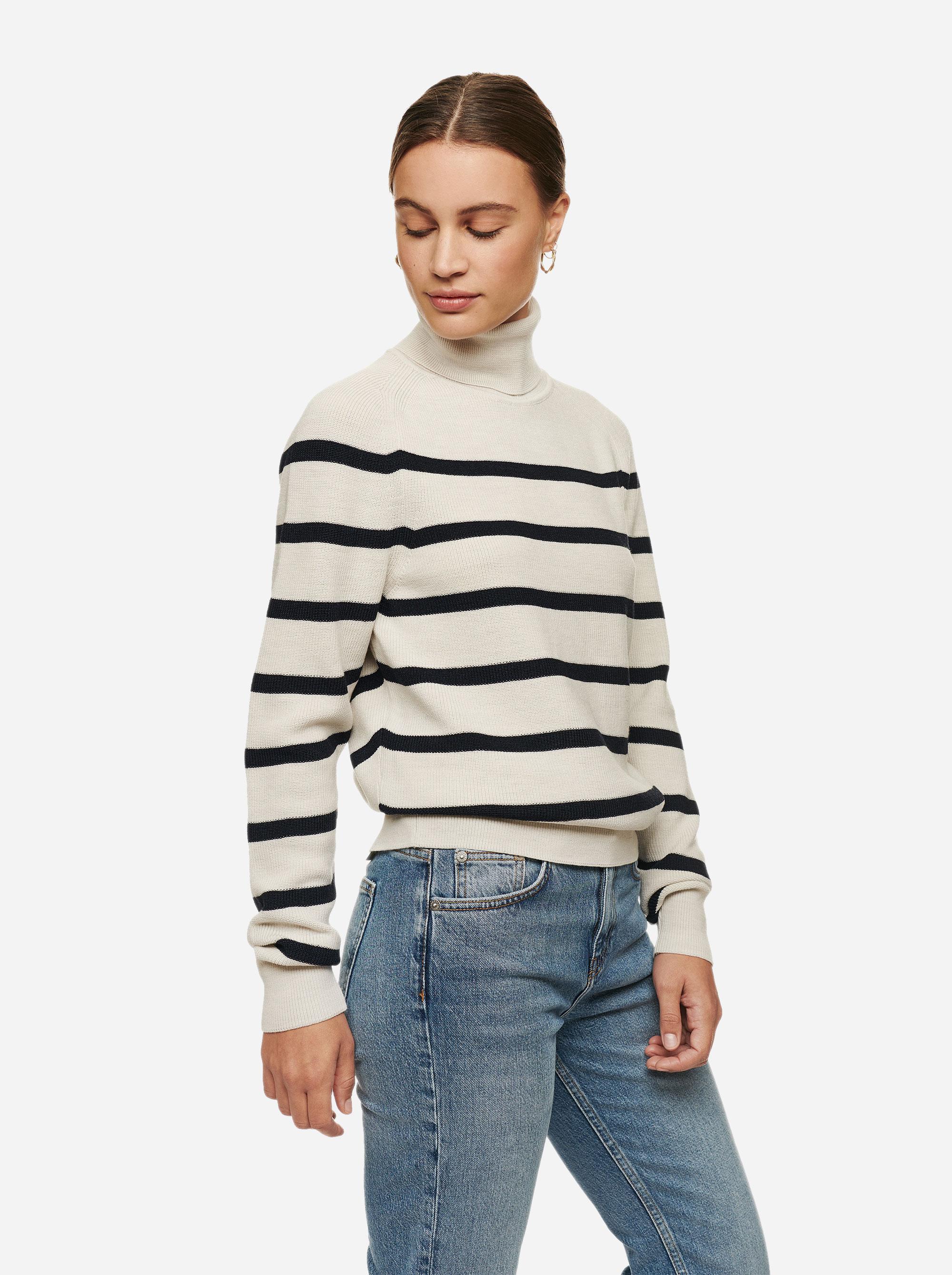 Teym - Turtleneck - The Merino Sweater - Men - Striped - 1