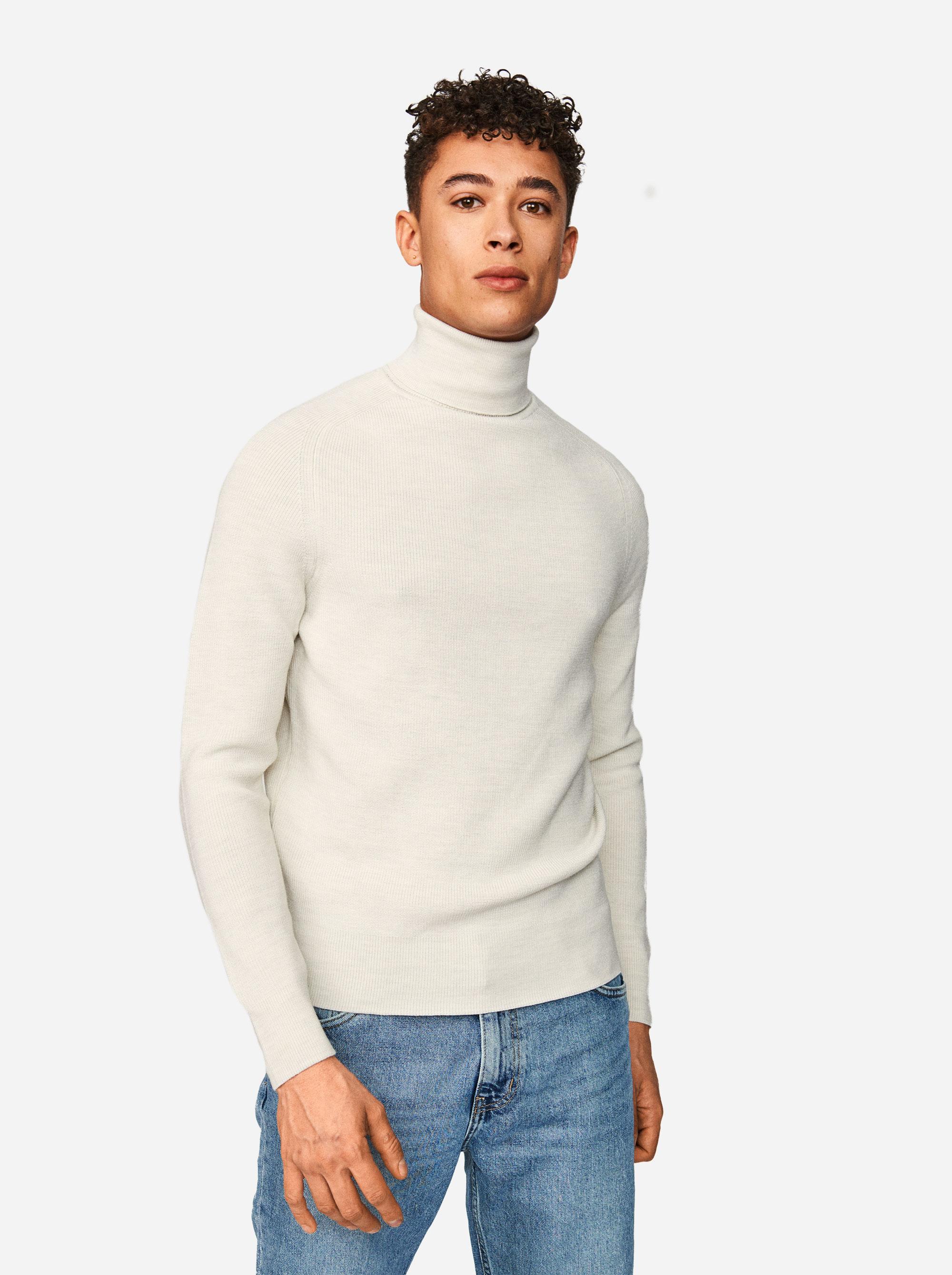 Teym - Turtleneck - The Merino Sweater - Men - White - 2