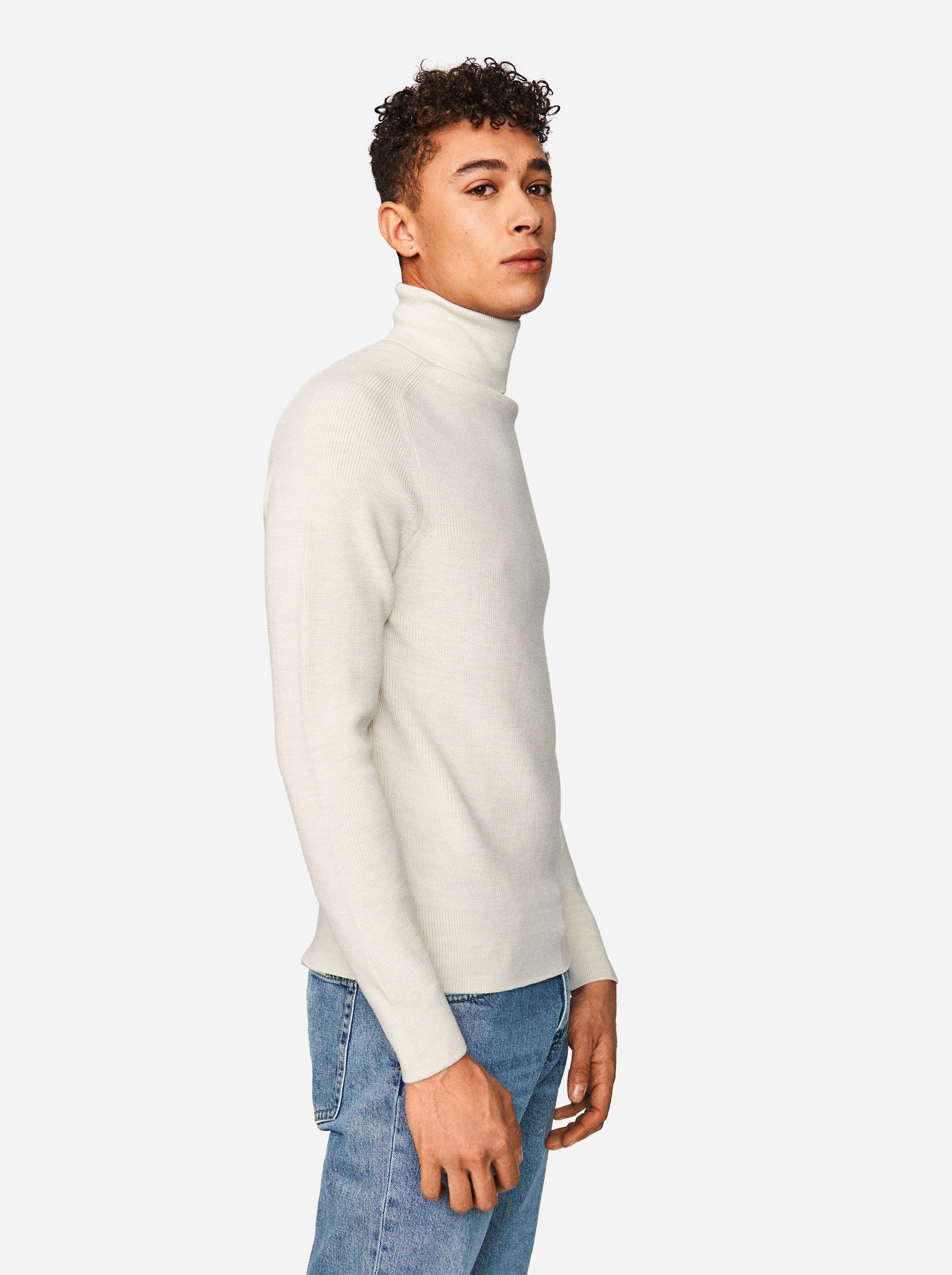 Teym - Turtleneck - The Merino Sweater - Men - White - 3