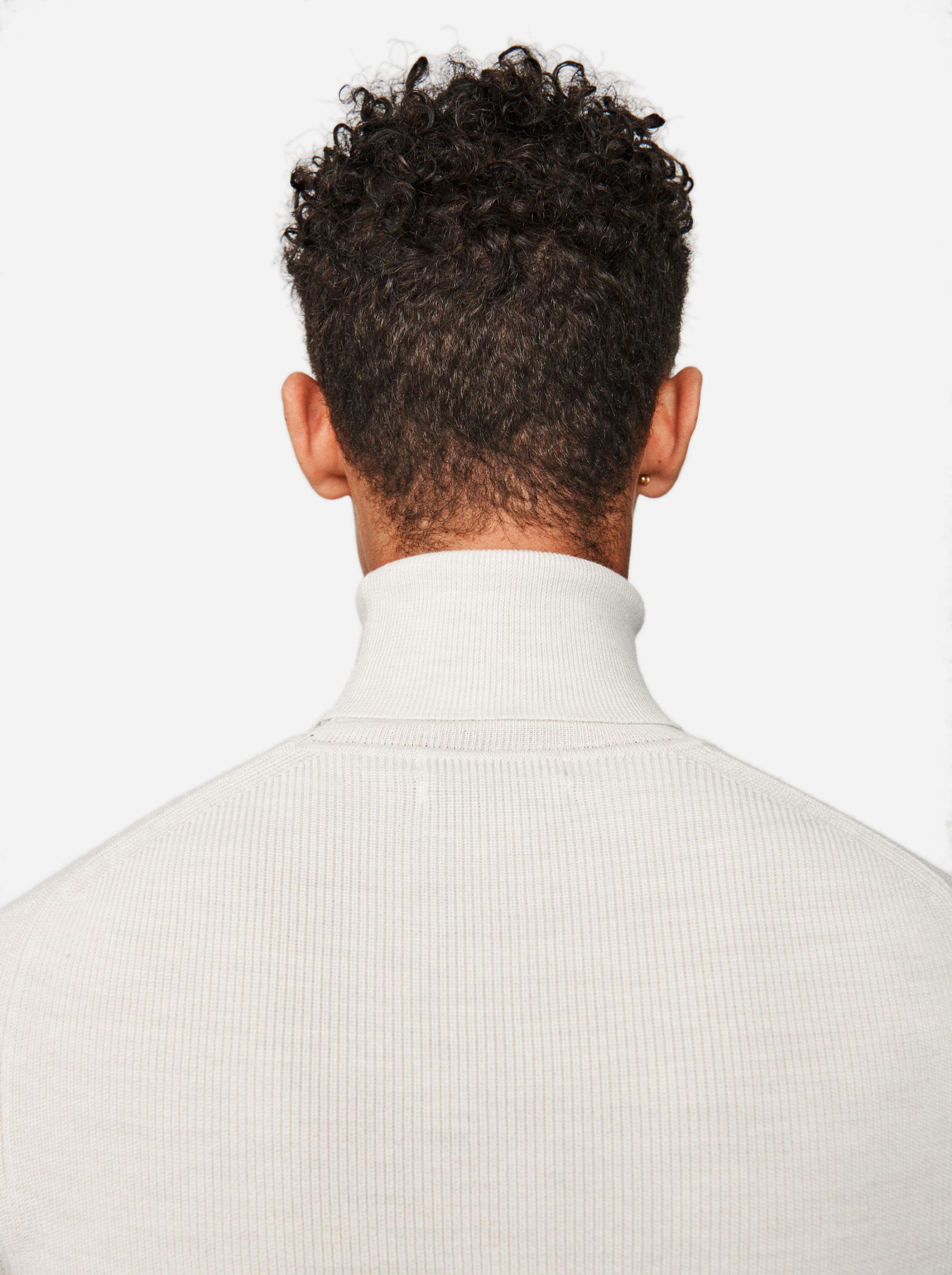 Teym - Turtleneck - The Merino Sweater - Men - White - 4