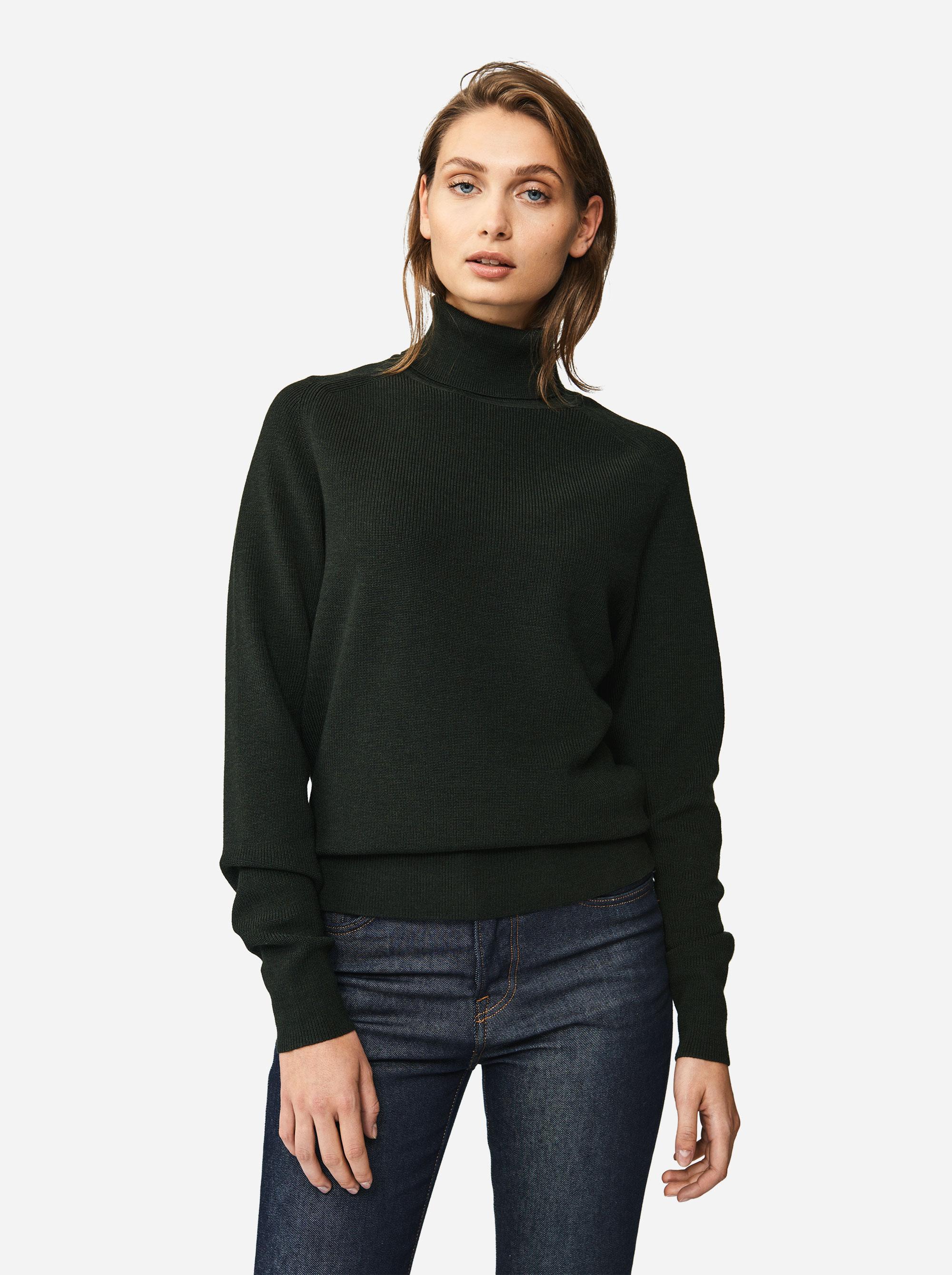 Teym - Turtleneck - The Merino Sweater - Women - Green - 2
