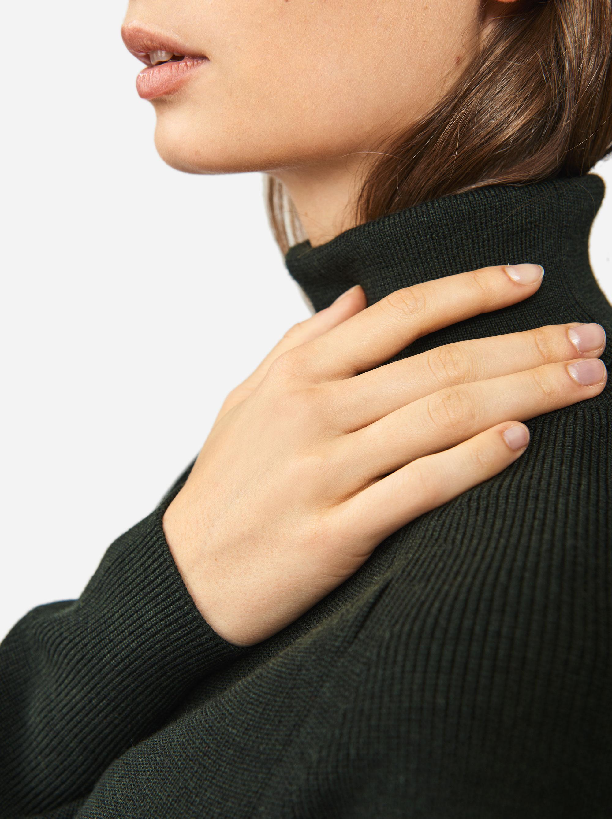 Teym - Turtleneck - The Merino Sweater - Women - Green - 3