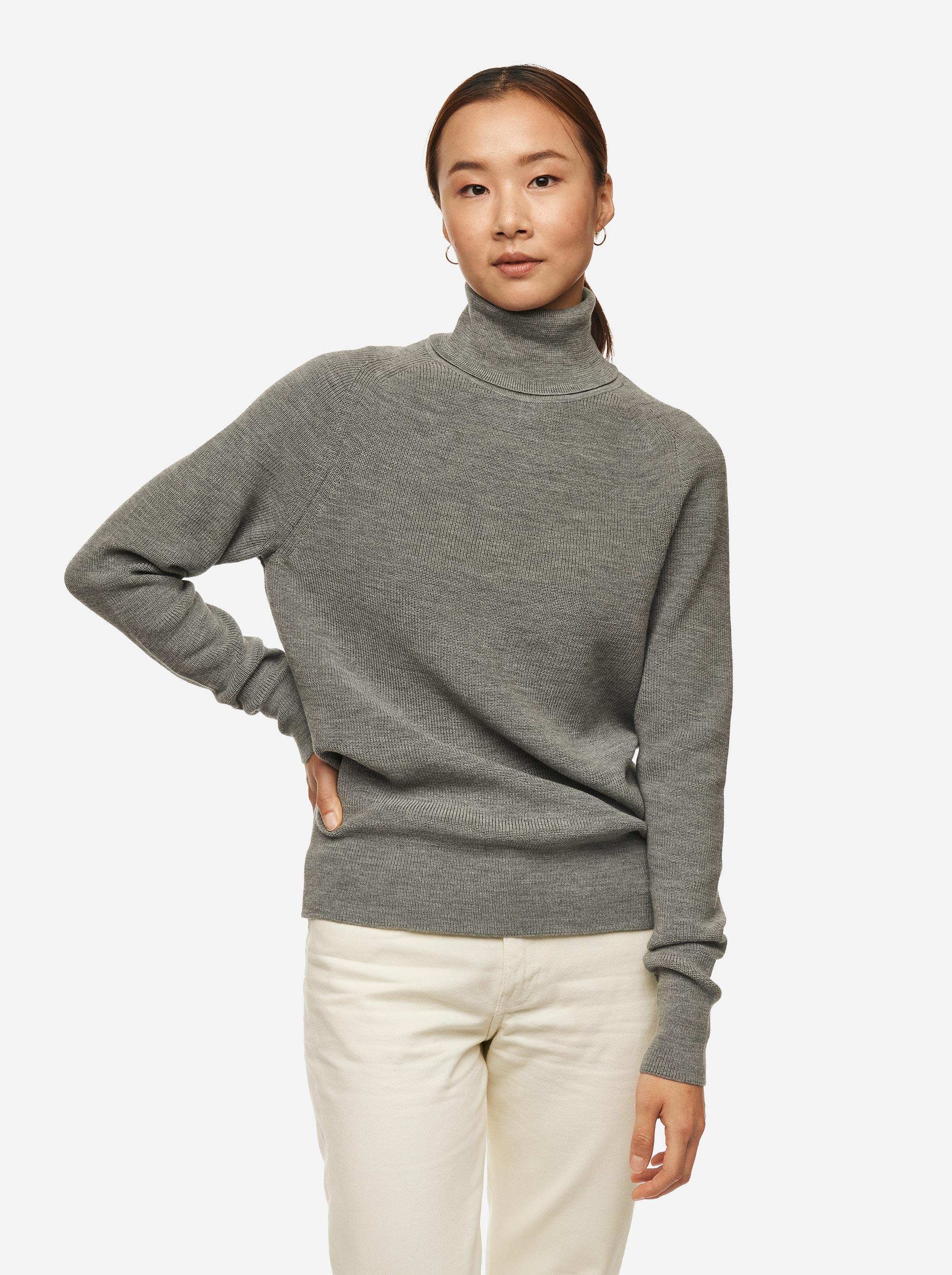Teym - Turtleneck - The Merino Sweater - Women - Grey - 1