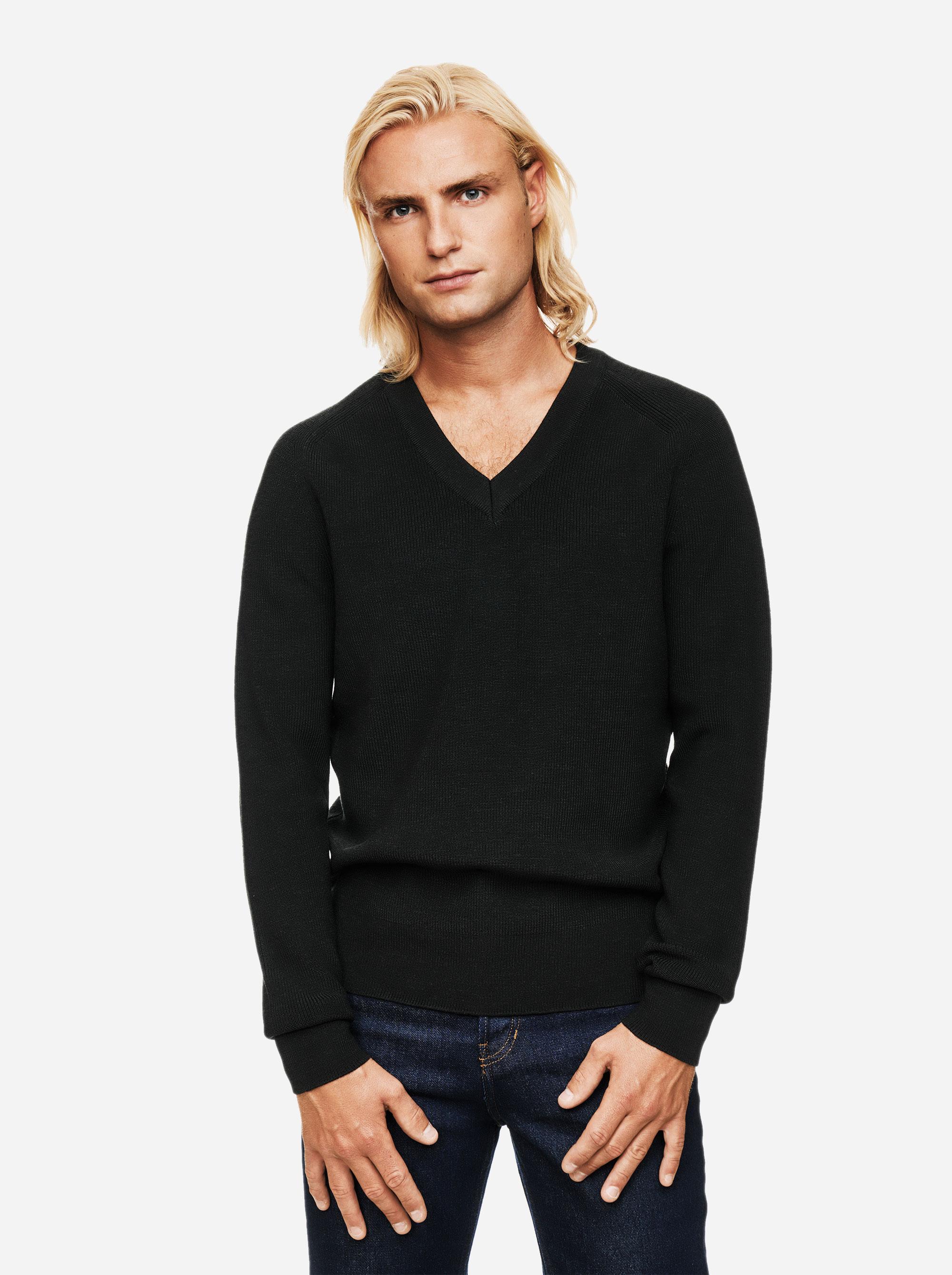 Teym - V-Neck - The Merino Sweater - Men - Green - 1