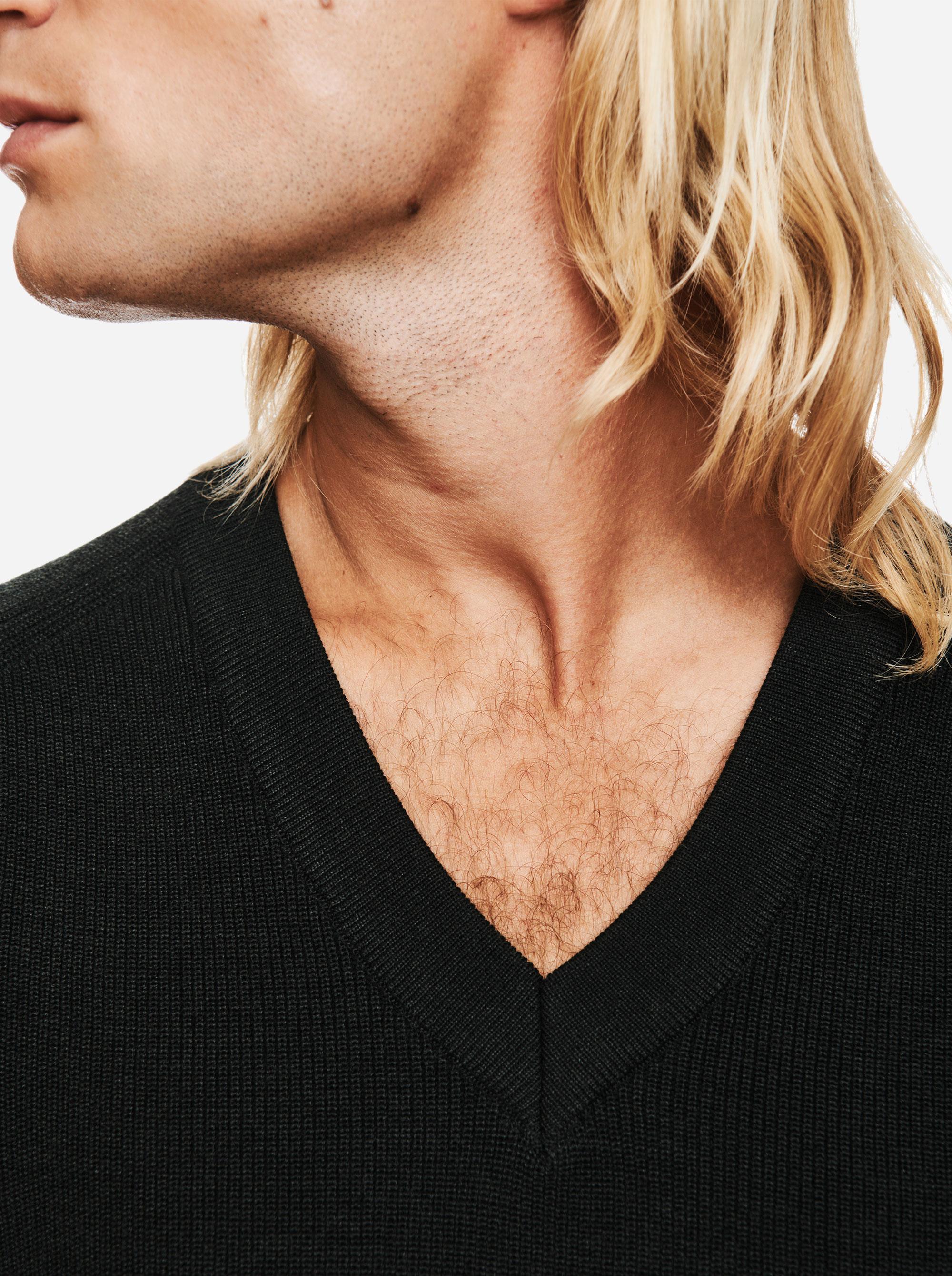 Teym - V-Neck - The Merino Sweater - Men - Green - 2
