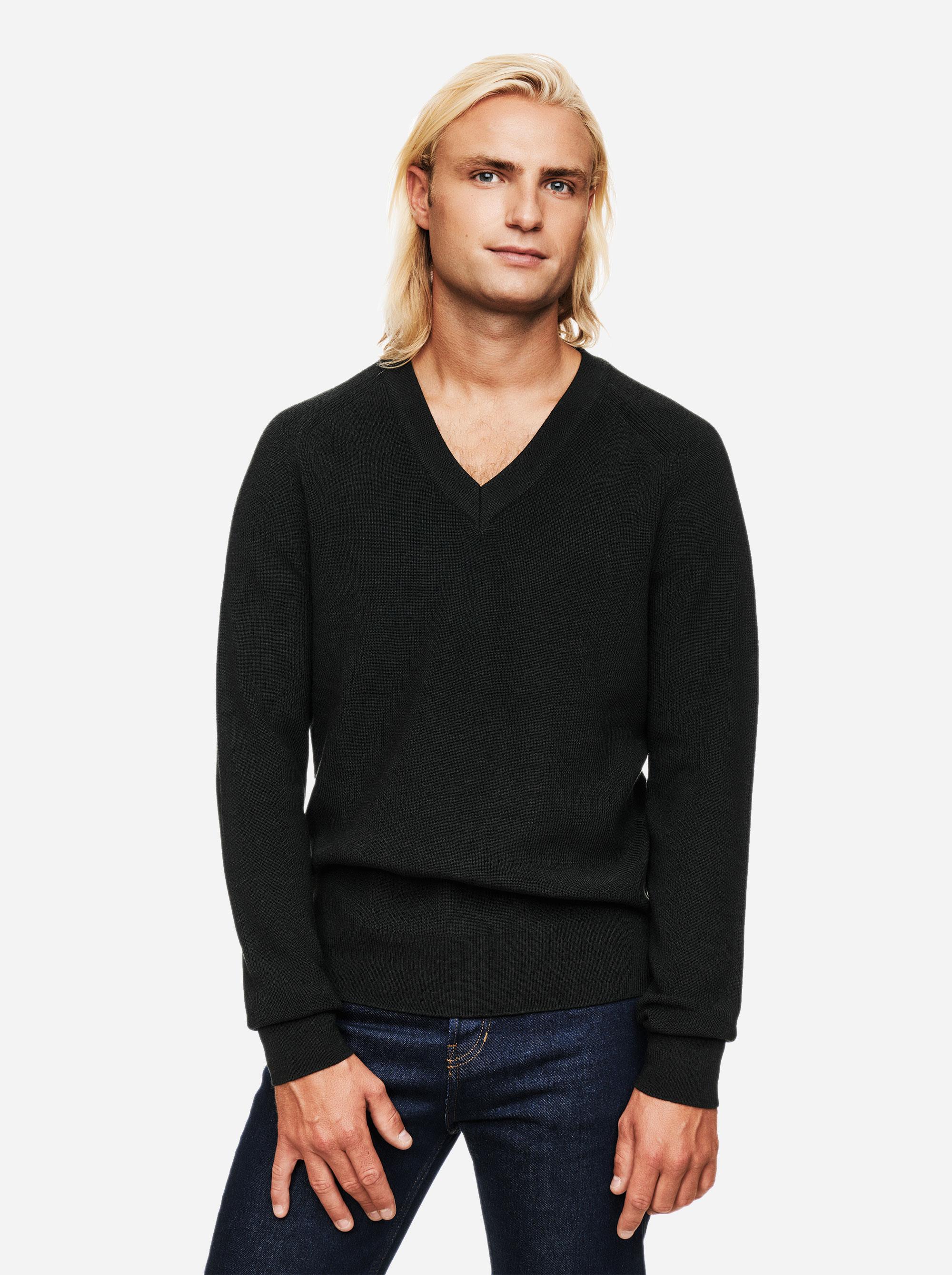 Teym - V-Neck - The Merino Sweater - Men - Green - 3