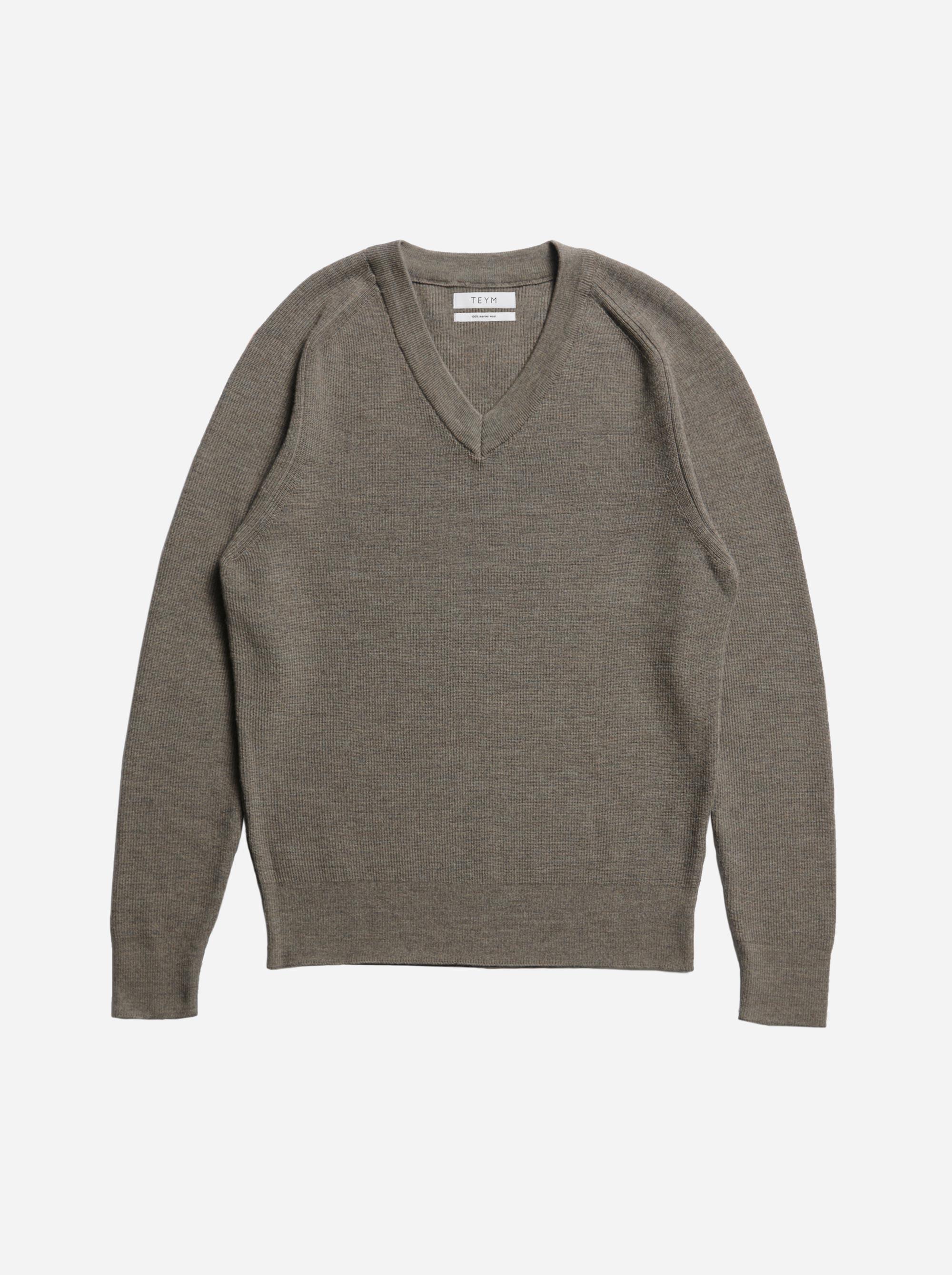 Teym - V-Neck - The Merino Sweater - Men - Grey - 4