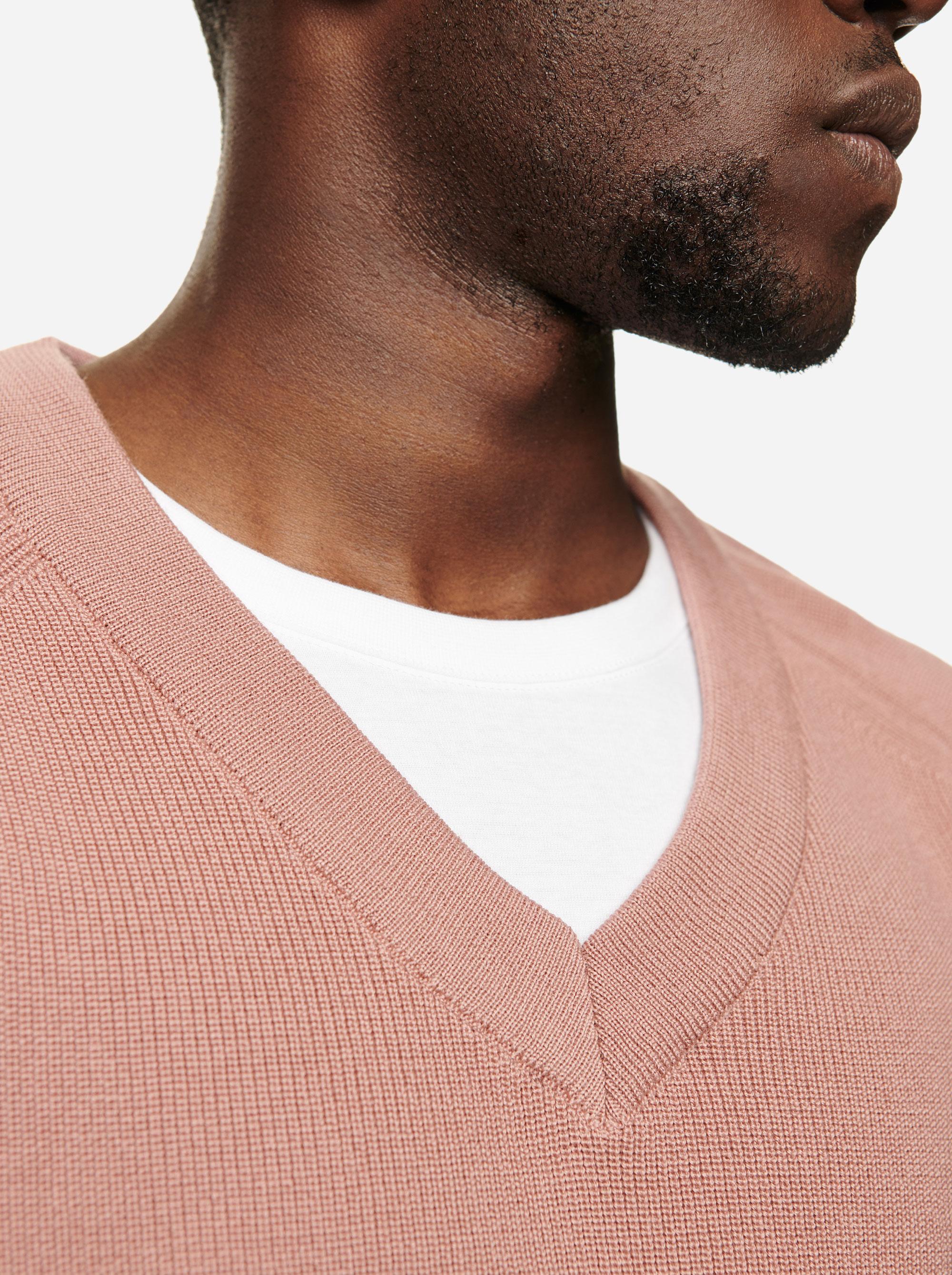 Teym - V-Neck - The Merino Sweater - Men - Pink - 2