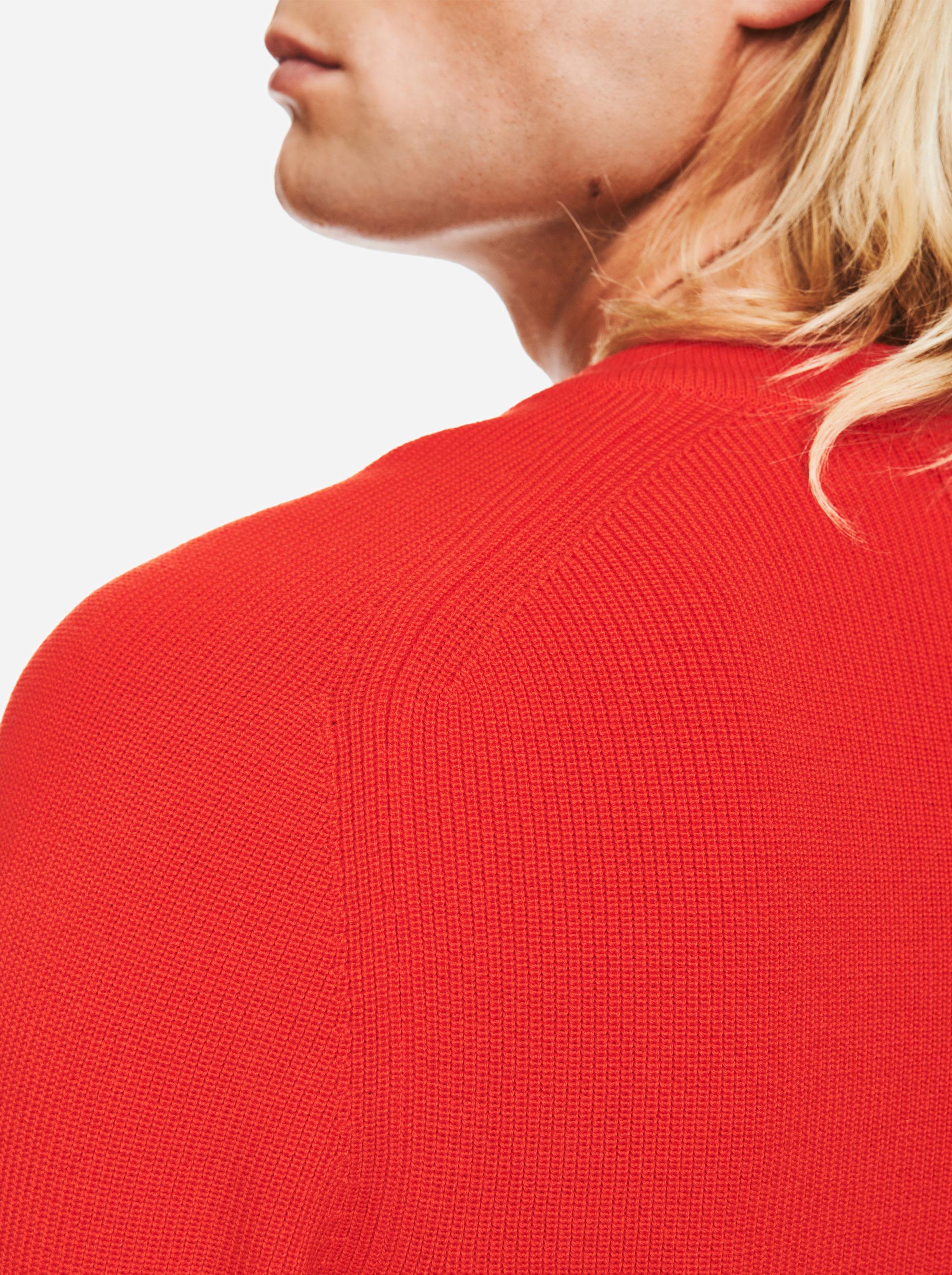 Teym - V-Neck - The Merino Sweater - Men - Red - 3