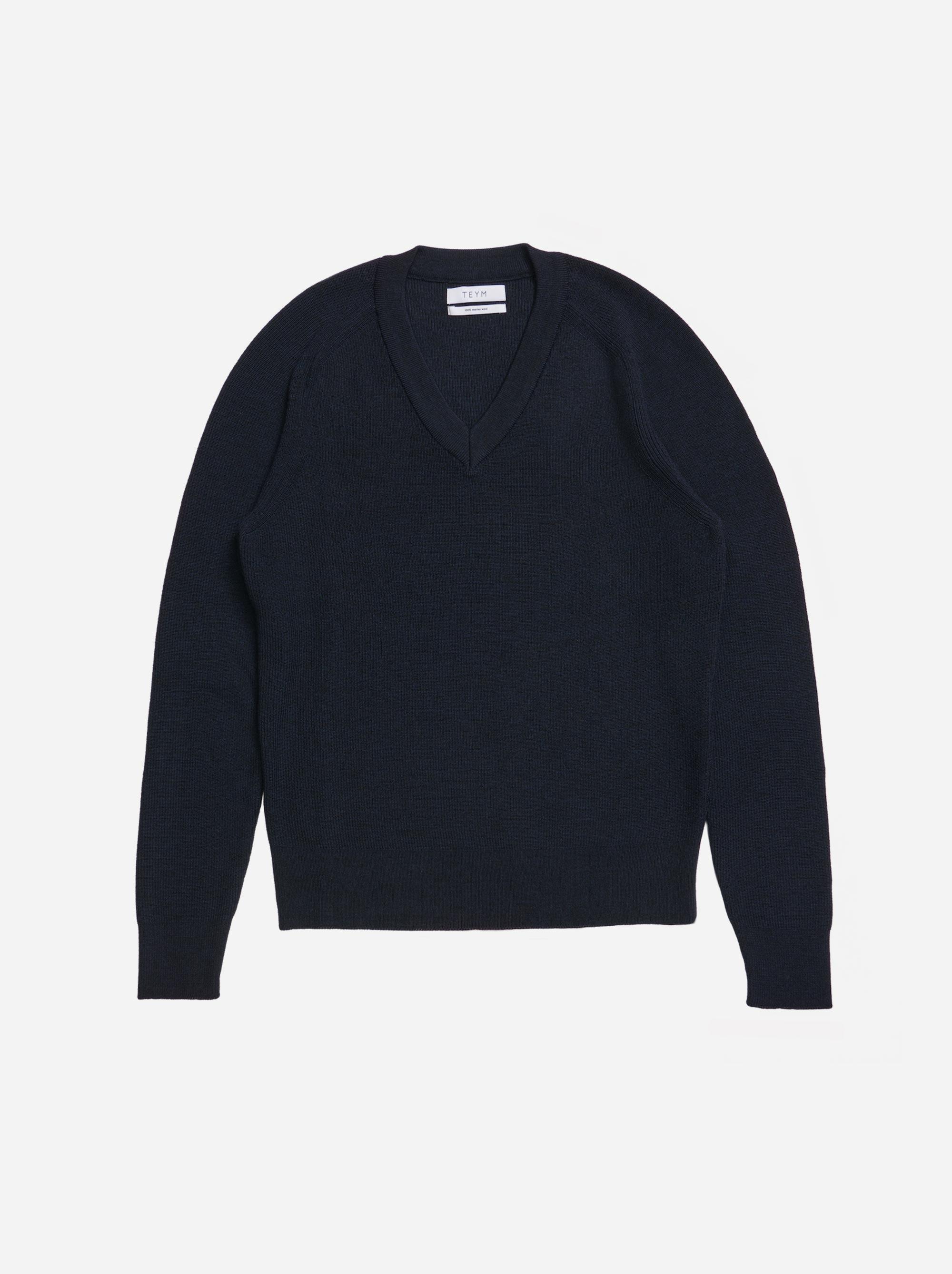 Teym - V-Neck - The Merino Sweater - Women - Blue - 4