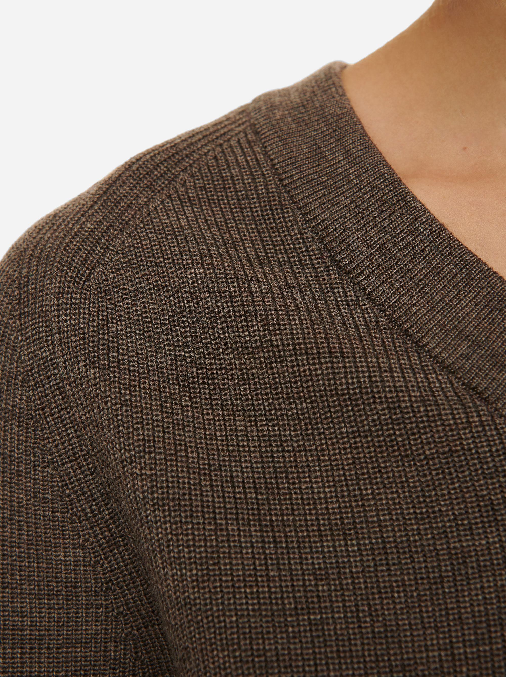 Teym - V-Neck - The Merino Sweater - Women - Grey - 2
