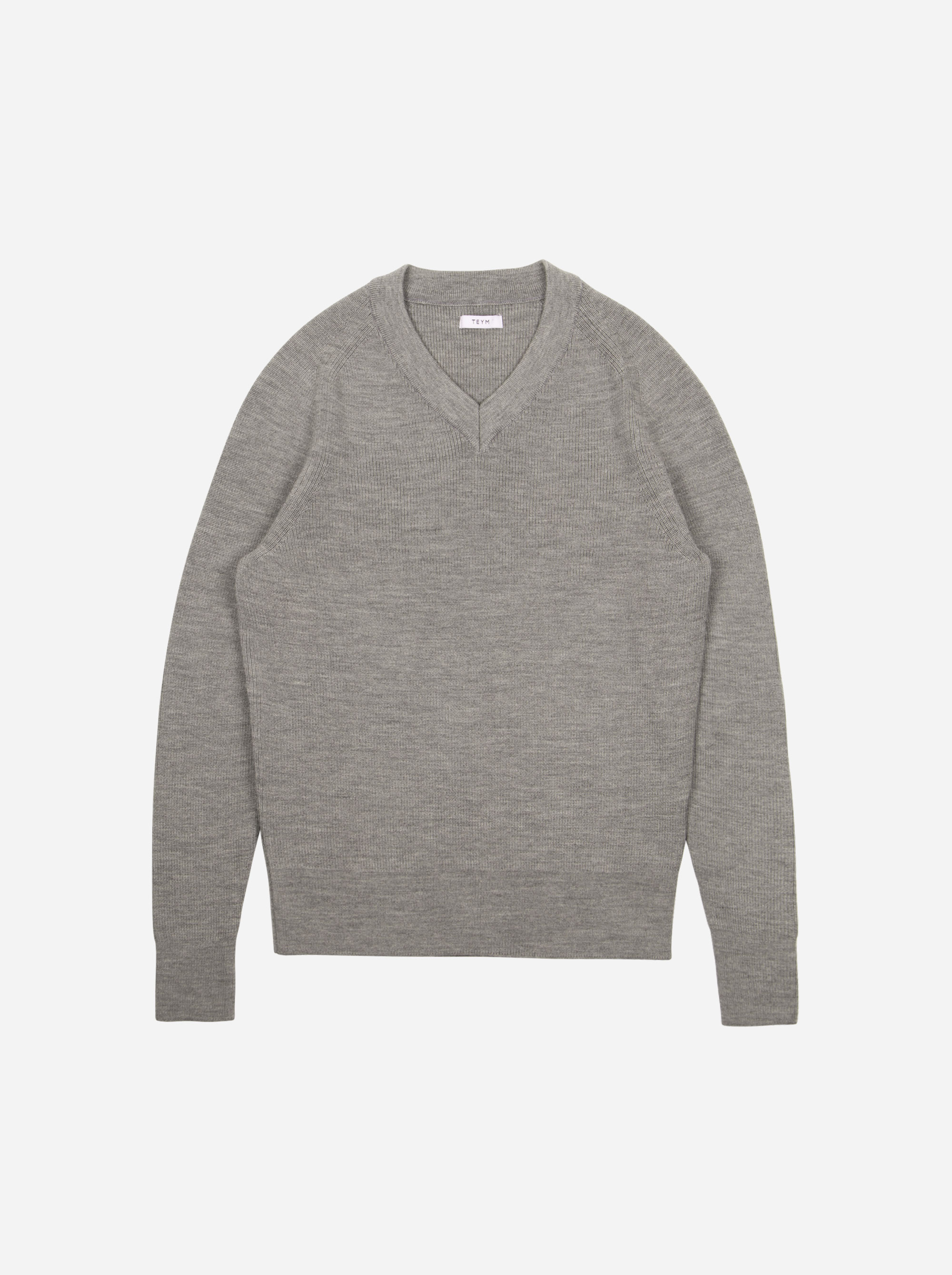 Teym - V-Neck - The Merino Sweater - Women - Grey - 5