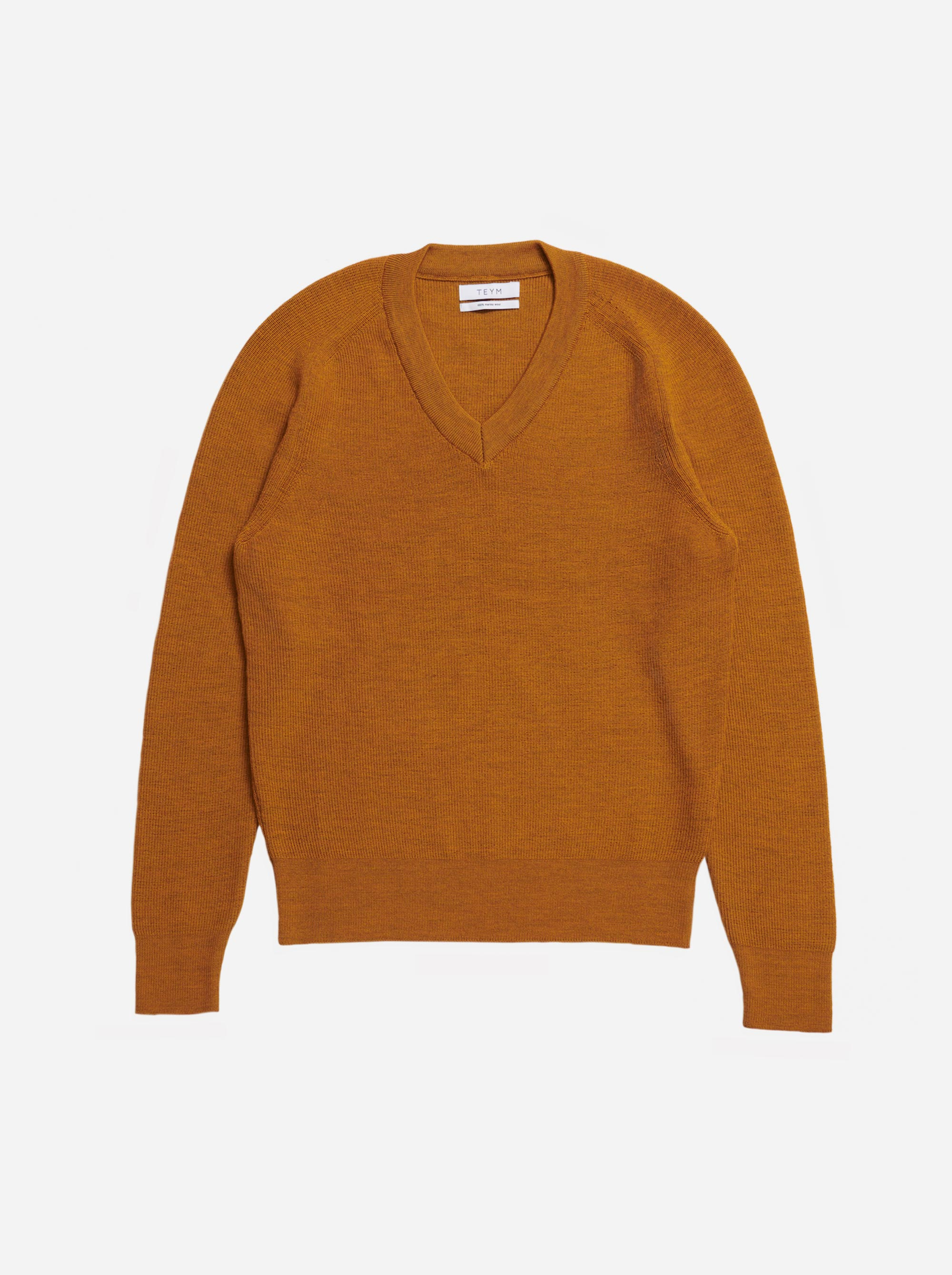 Teym - V-Neck - The Merino Sweater - Women - Mustard - 4