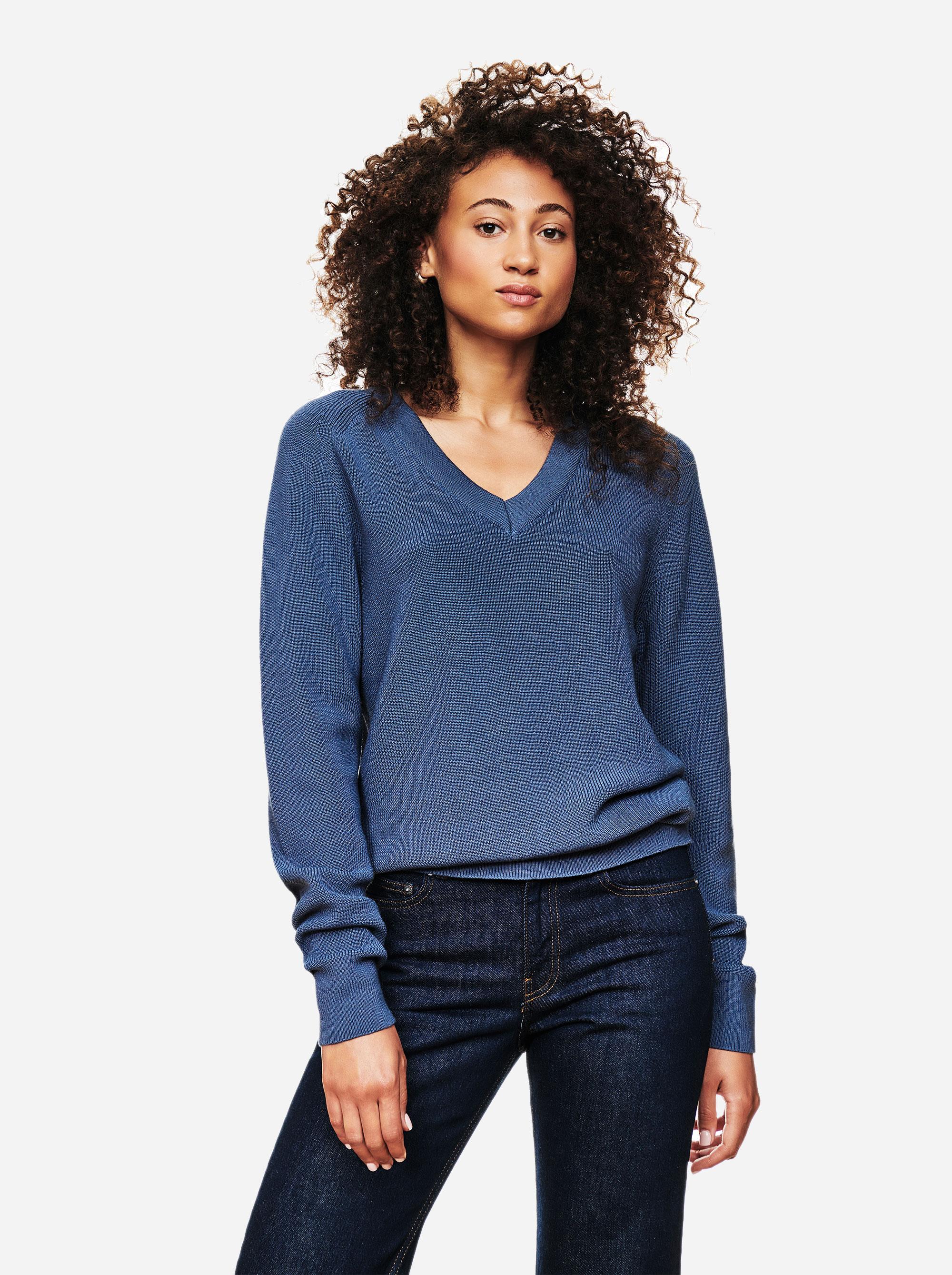 Teym - V-Neck - The Merino Sweater - Women - Sky blue - 3