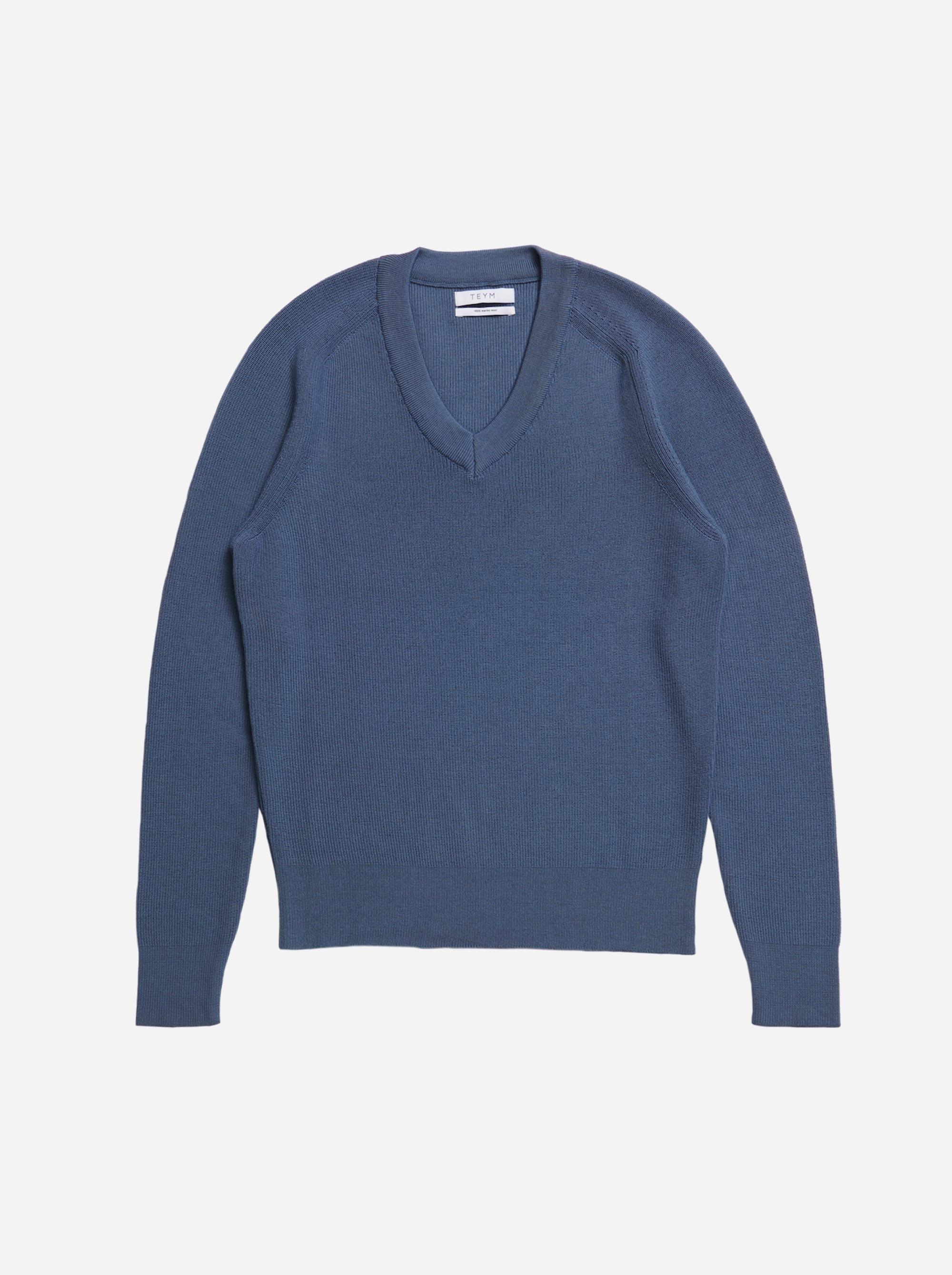 Teym - V-Neck - The Merino Sweater - Women - Sky blue - 4