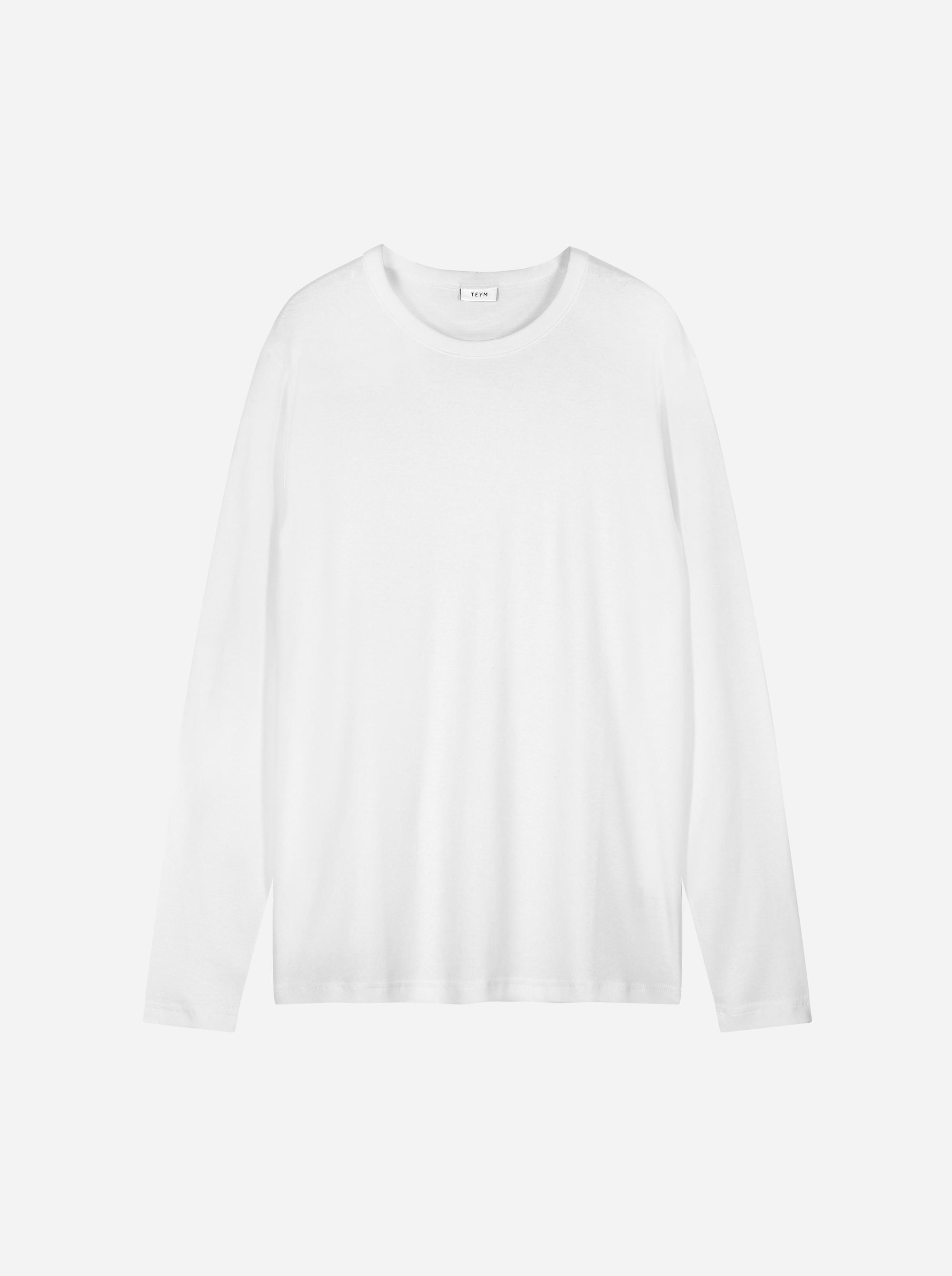 Teym - The-T-Shirt - Longsleeve - Men - White - 4