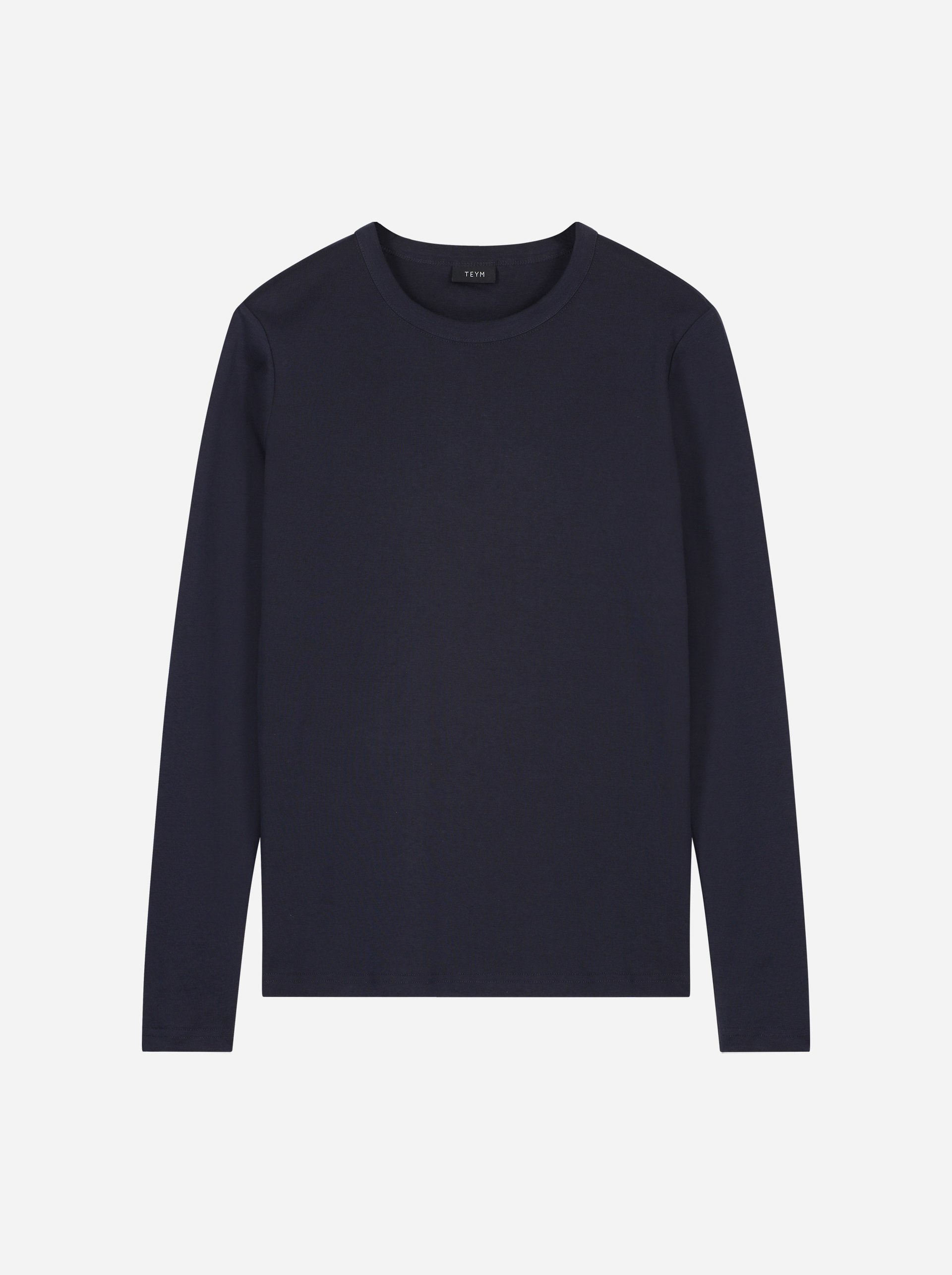 Teym - The-T-Shirt - Longsleeve - Women - Blue - 4