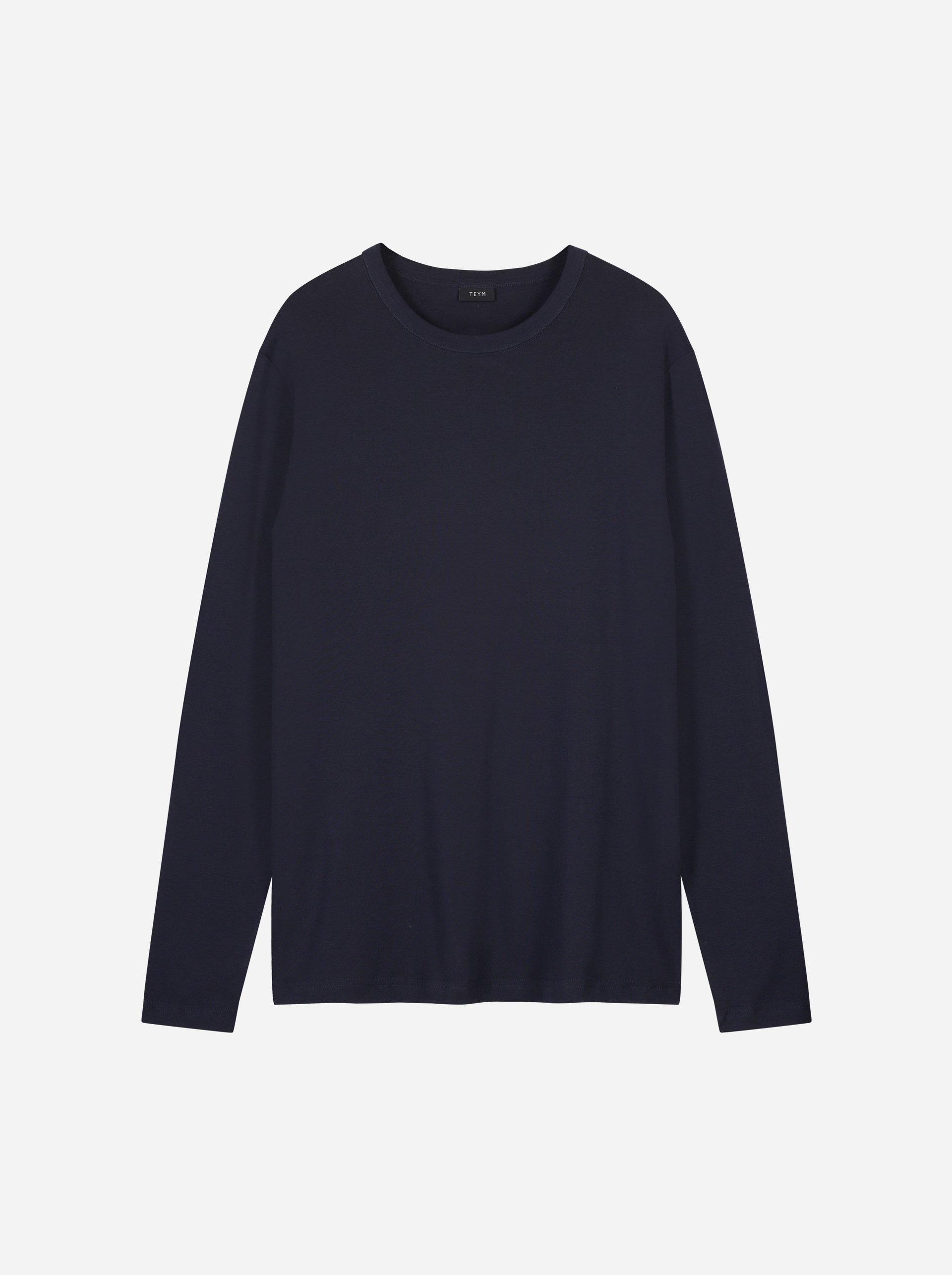 Teym - The-T-Shirt - Longsleeve - Men - Blue - 4
