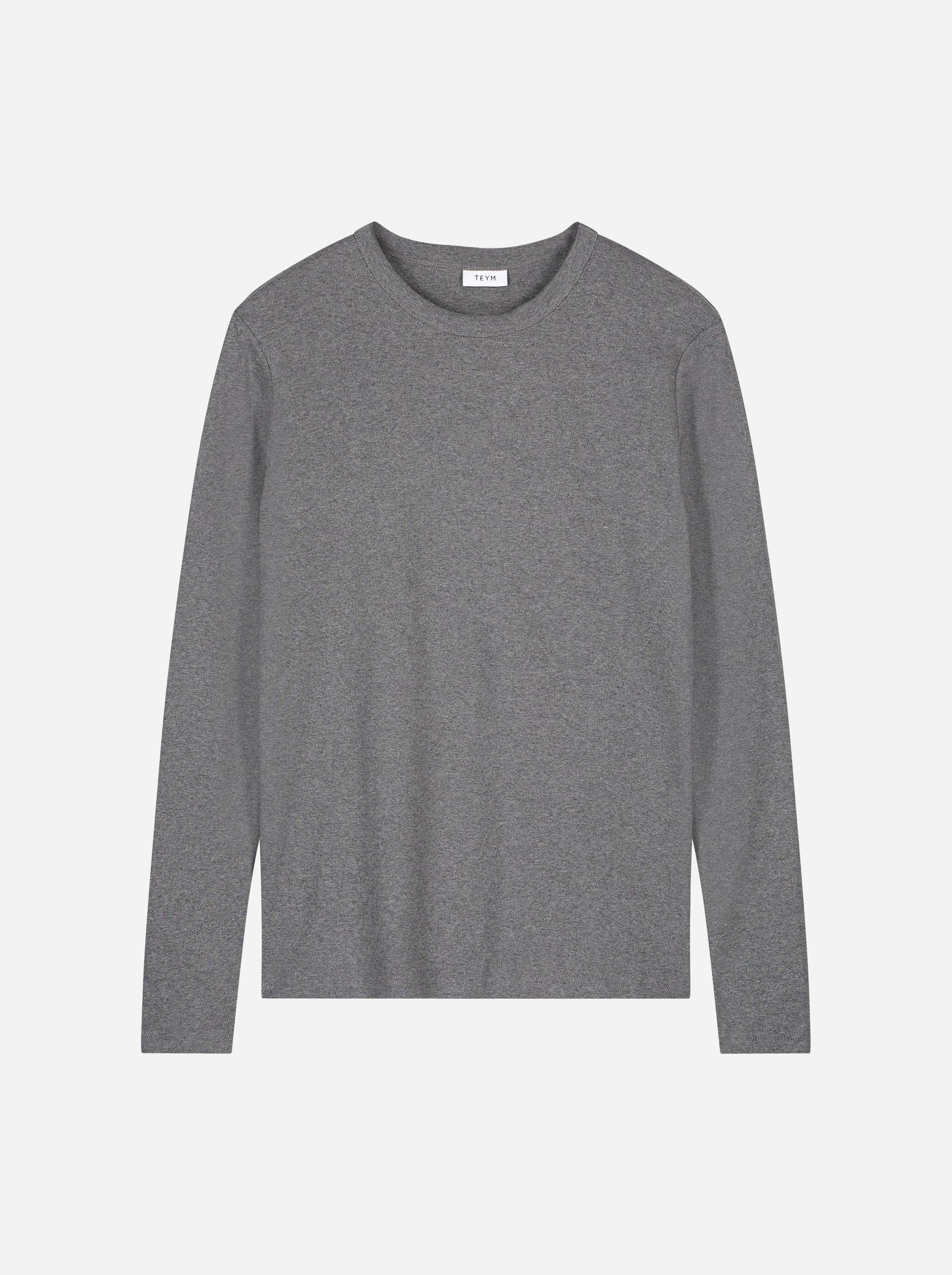 Teym - The-T-Shirt - Longsleeve - Women - Melange Grey - 4B
