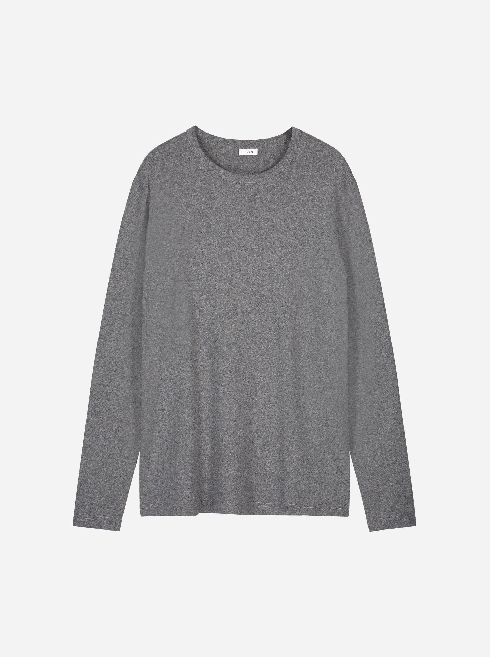 Teym - The-T-Shirt - Longsleeve - Men - Melange Grey - 4B