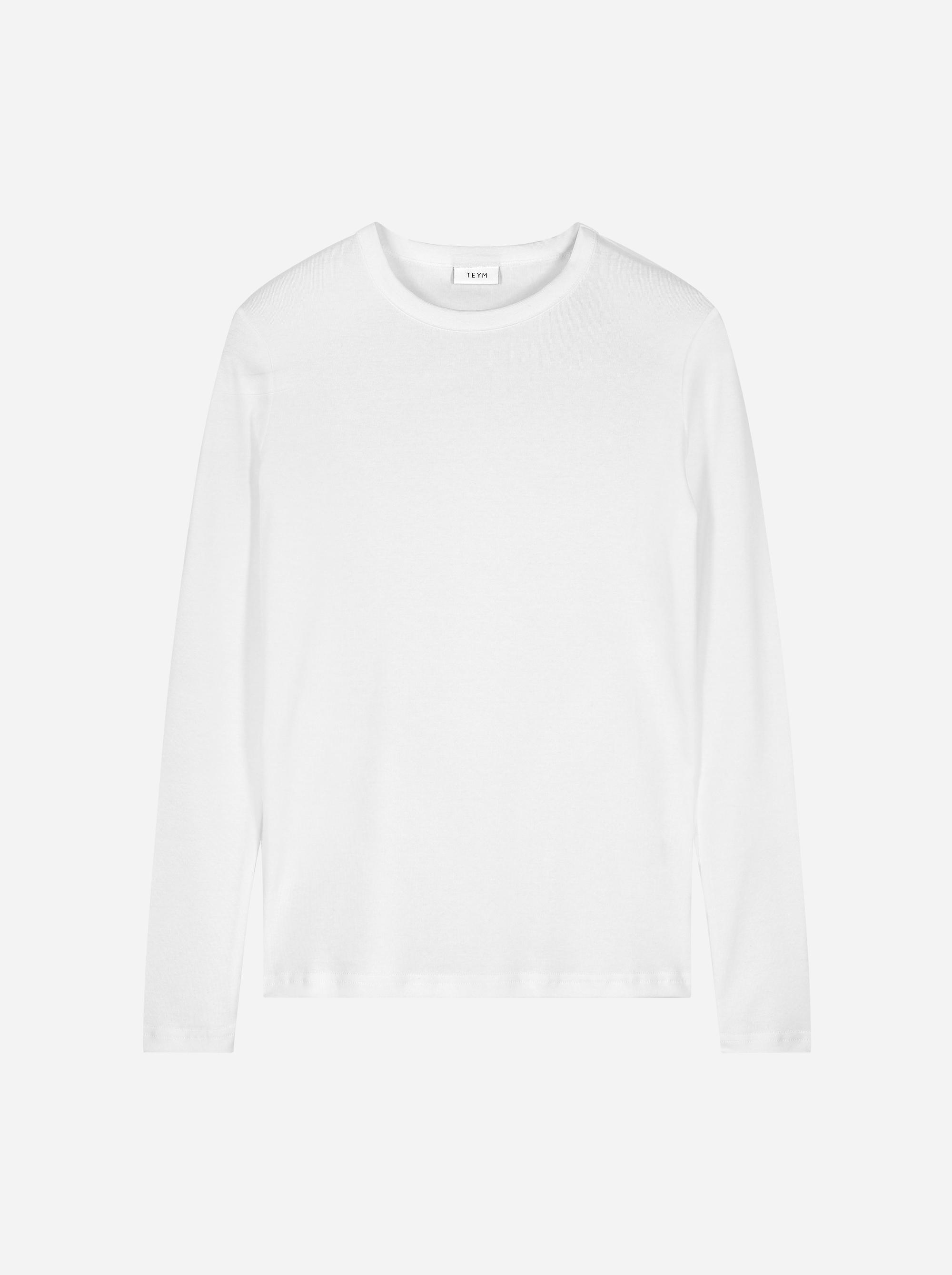 Teym_The Longsleeve T-Shirt_white_female_front_1B