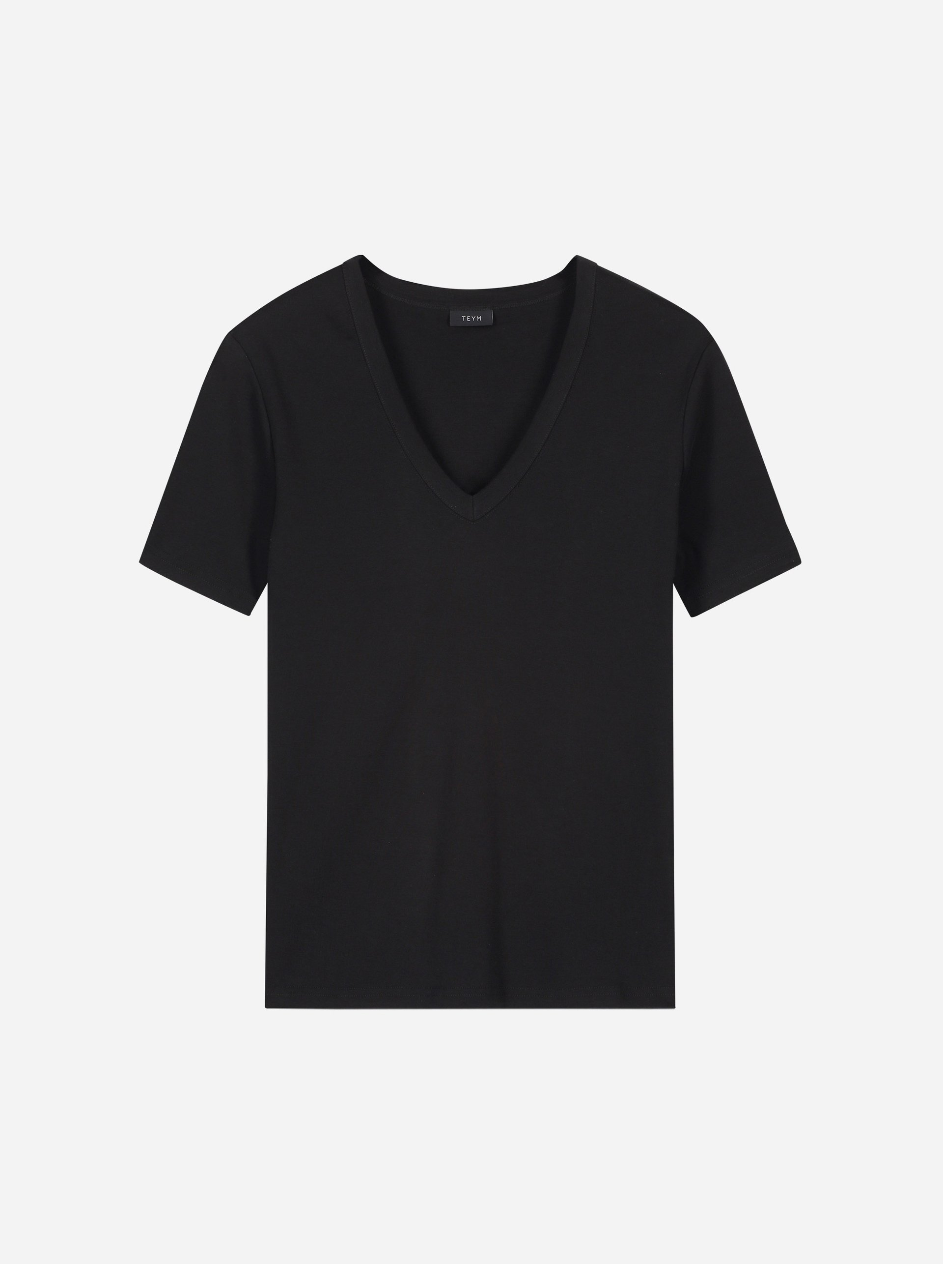 Teym - The T-Shirt - V-Neck - Women - Black - 7