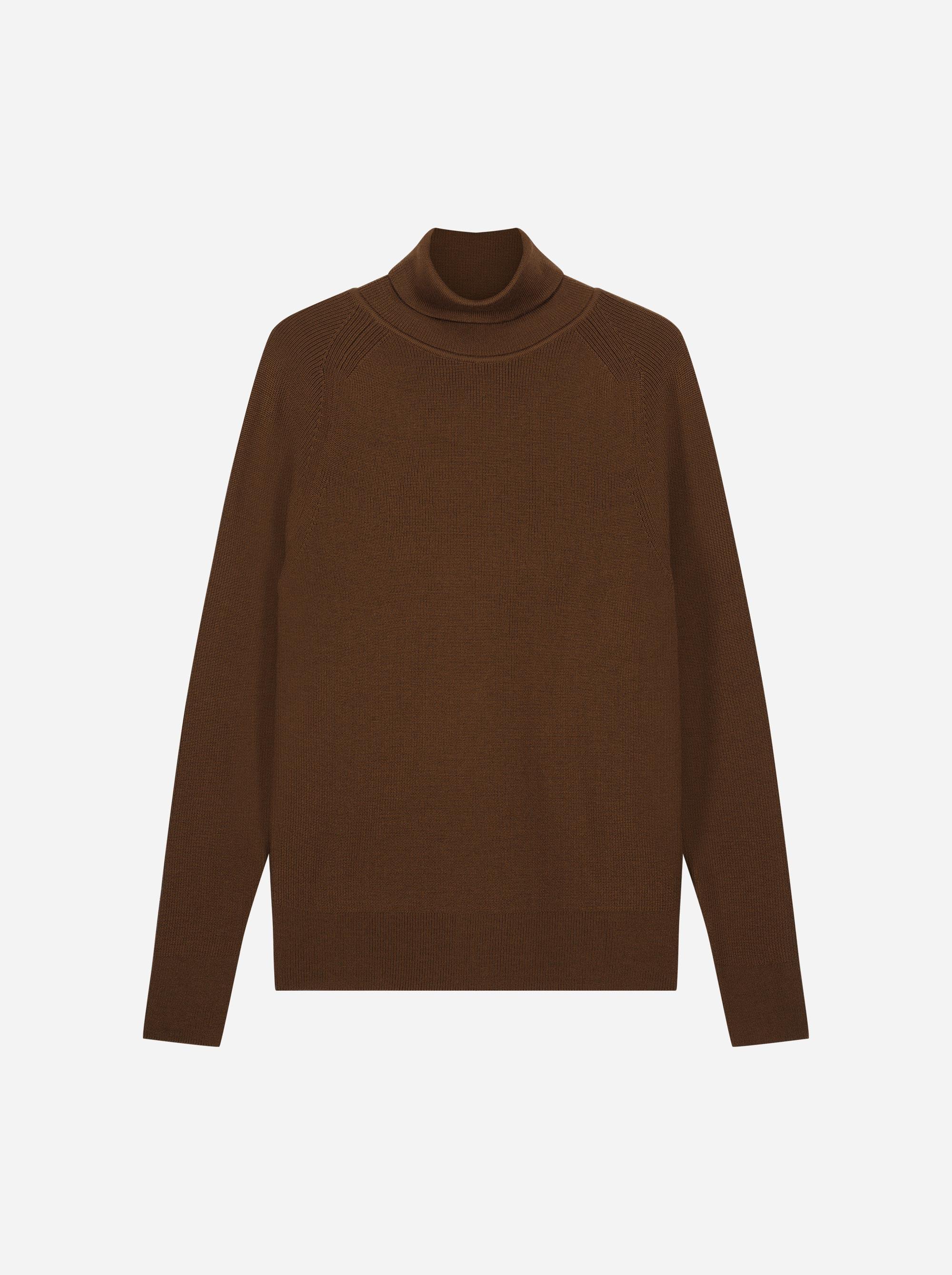 Teym_Merino-Sweater-Turtleneck_Dark_Brown_front_1